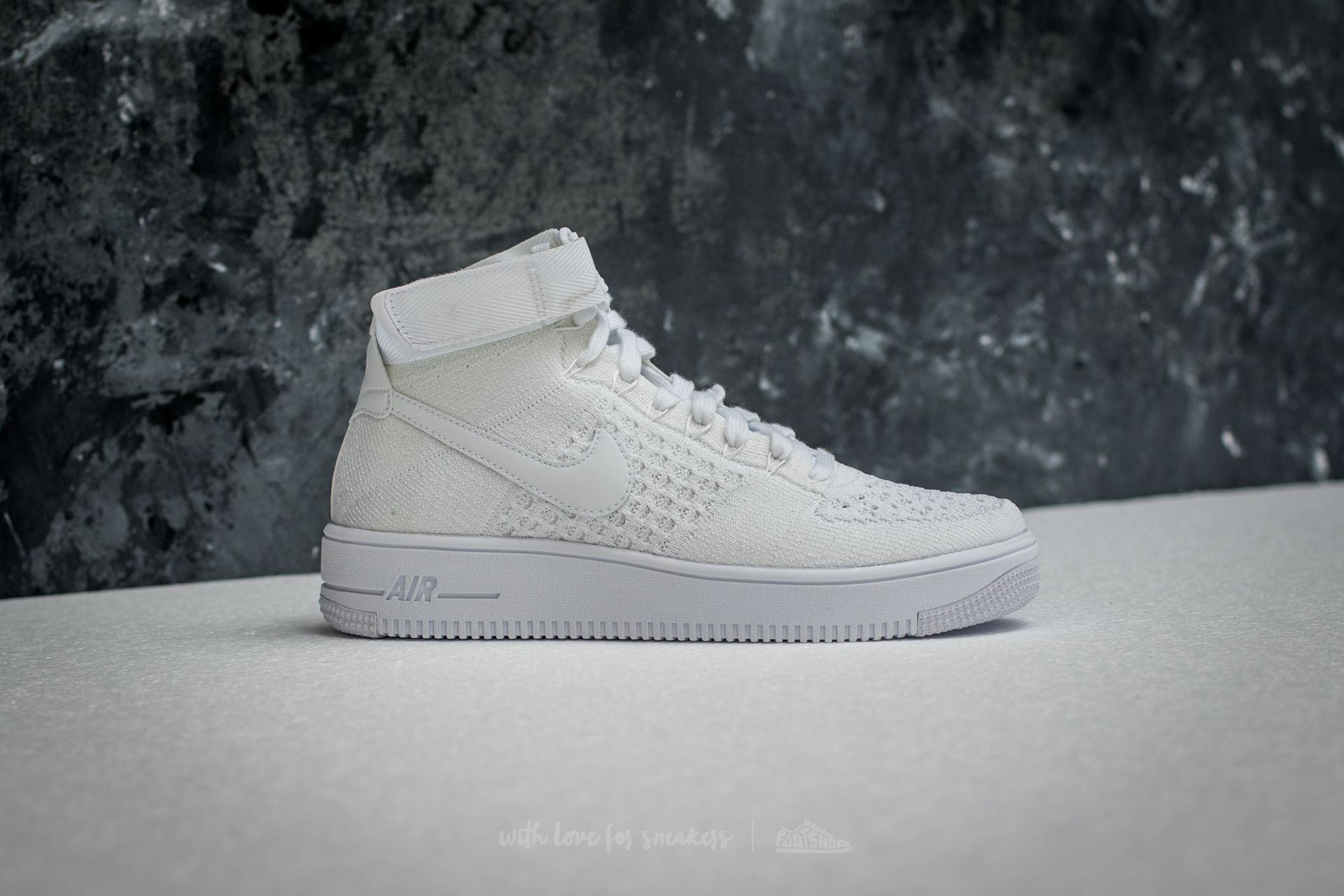 various colors 34bf9 800cb Nike Air Force 1 Ultra Flyknit Mid White/ White-White | Footshop
