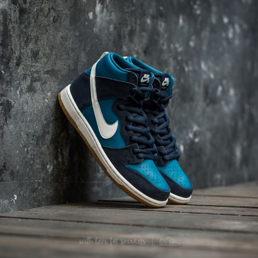 promo code 32155 2362d Nike SB Zoom Dunk High Pro Obsidian/ White-Industrial Blue ...