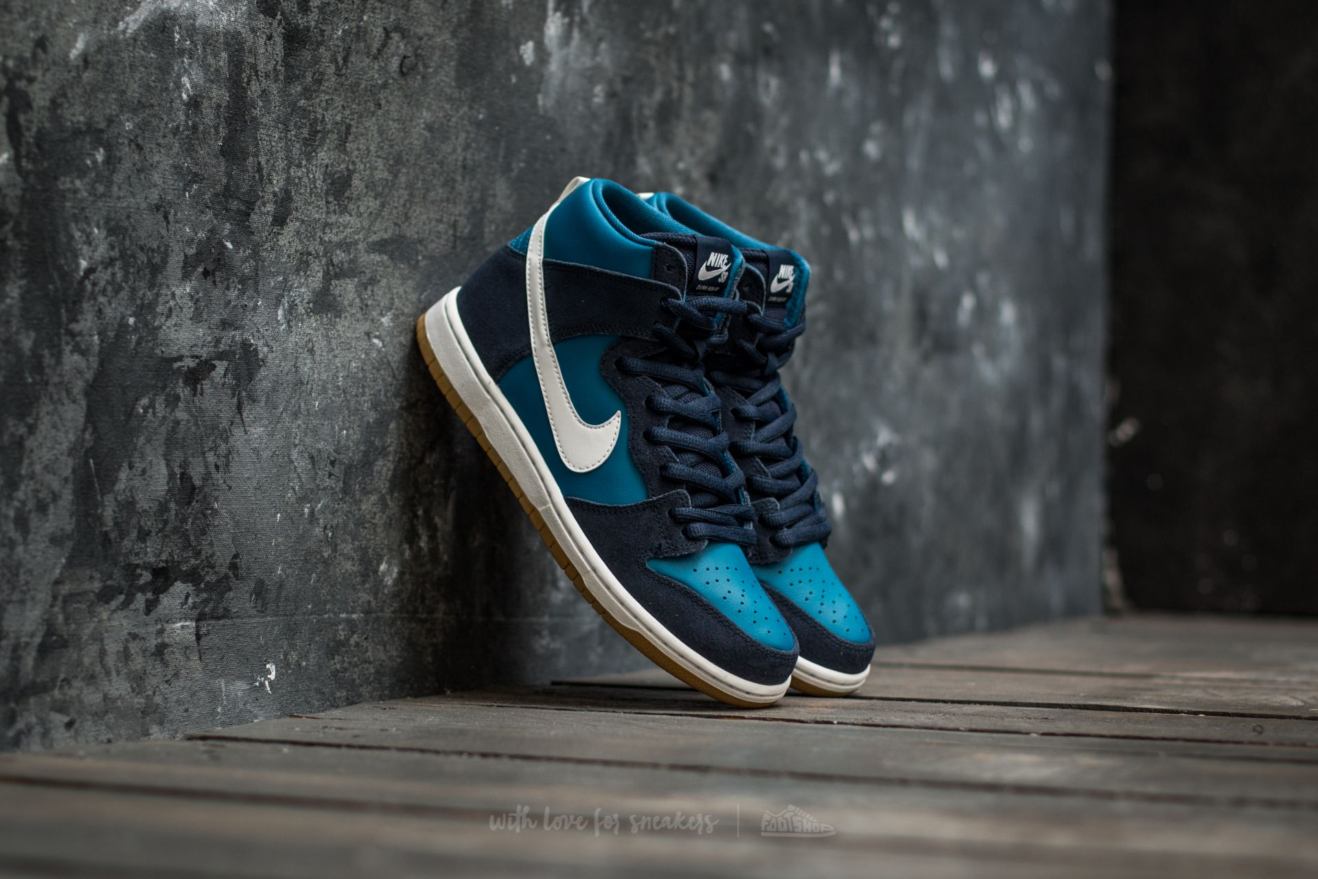87402011496 Nike SB Zoom Dunk High Pro Obsidian  White-Industrial Blue