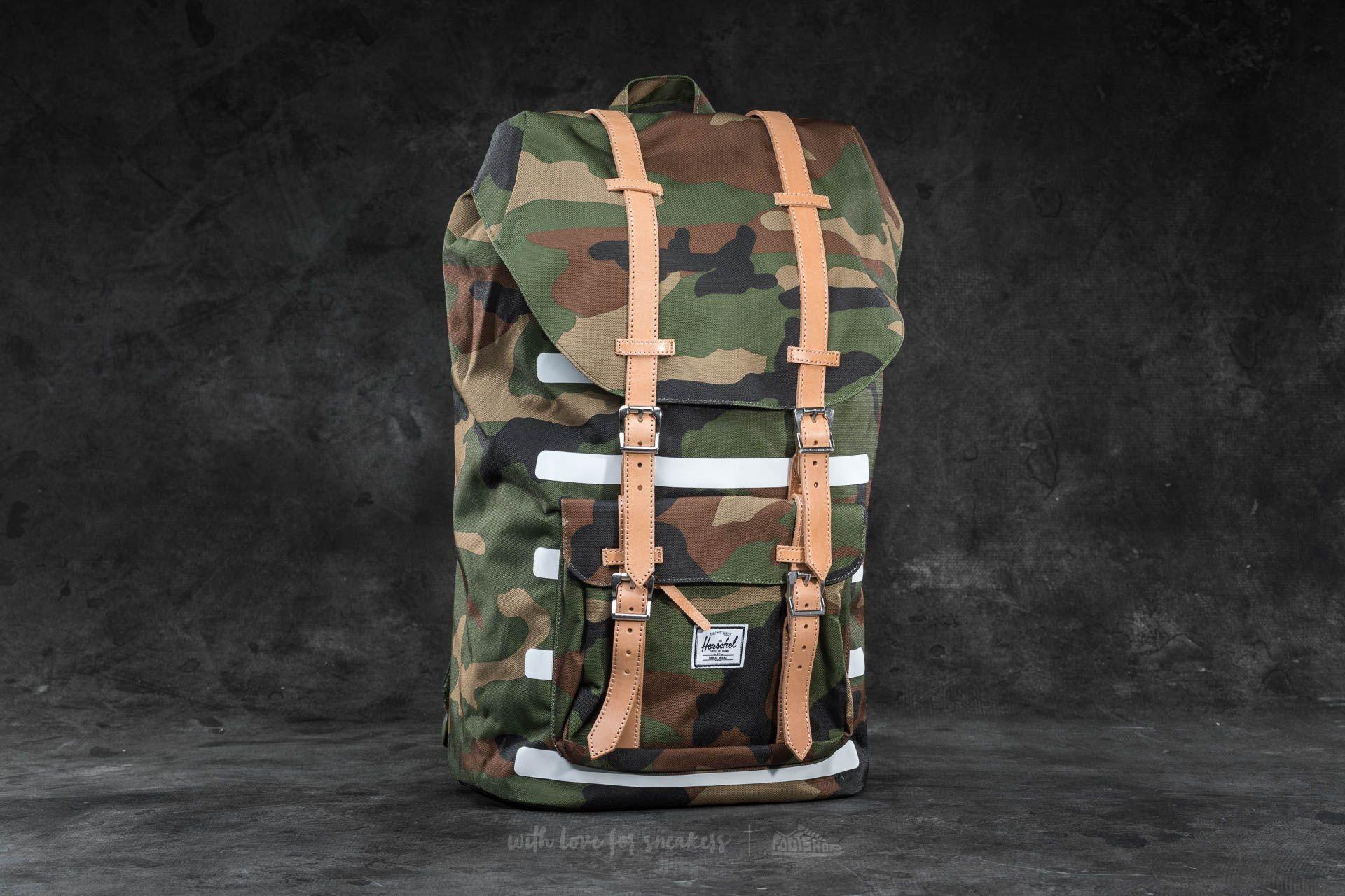 63f1c01ec1 Herschel Supply Co. Little America Backpack Woodland Camo Stripe ...