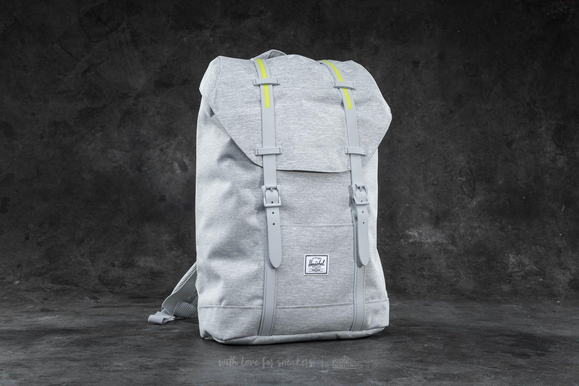 7cf41a96ee Herschel Supply Co. Retreat Mid-Volume Backpack Light Grey Crosshatch  Light  Grey Rubber