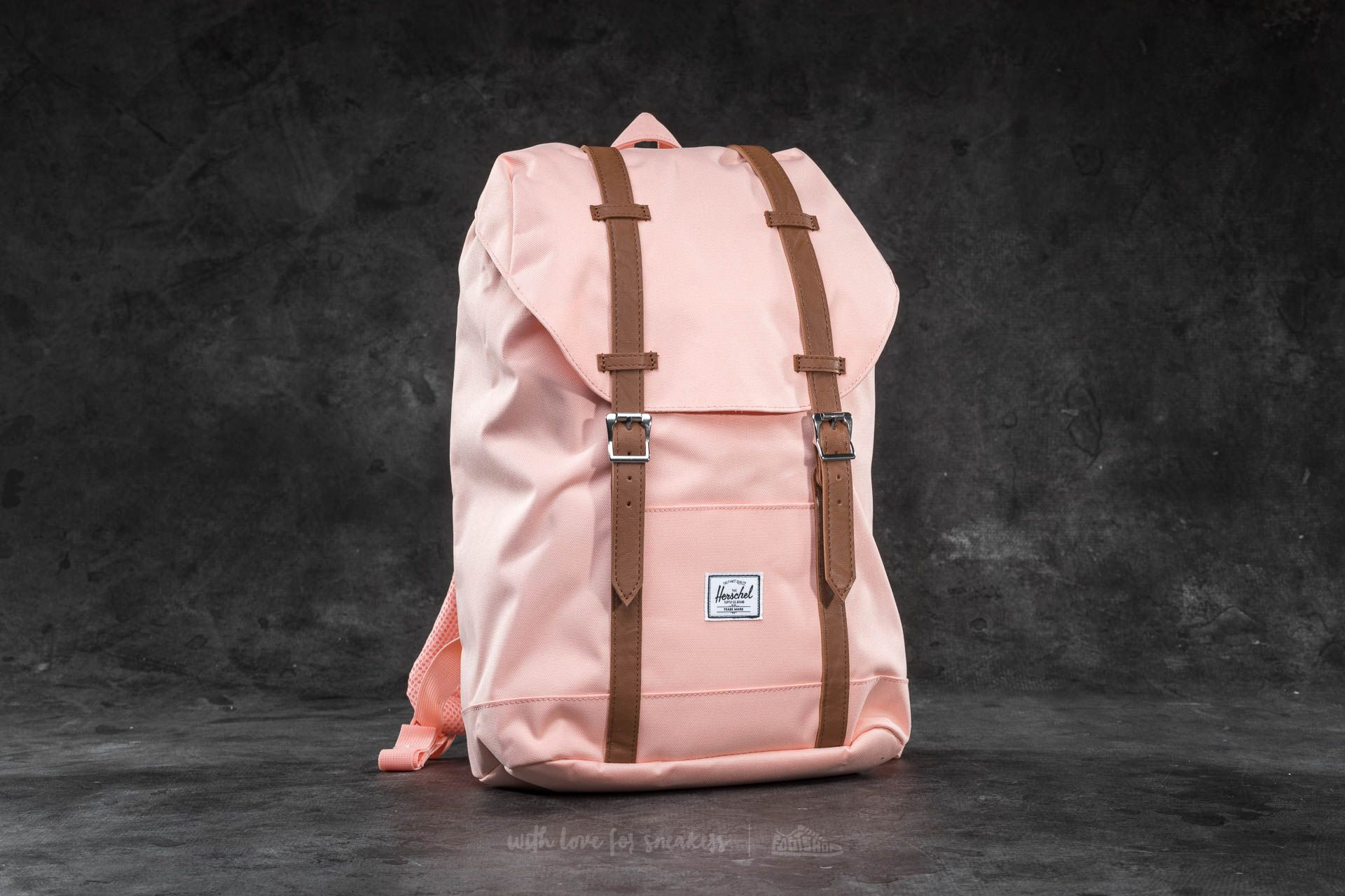 24c51c86989a Herschel Supply Co. Retreat Mid-Volume Backpack. Apricot Blush  Tan  Synthetic Leather