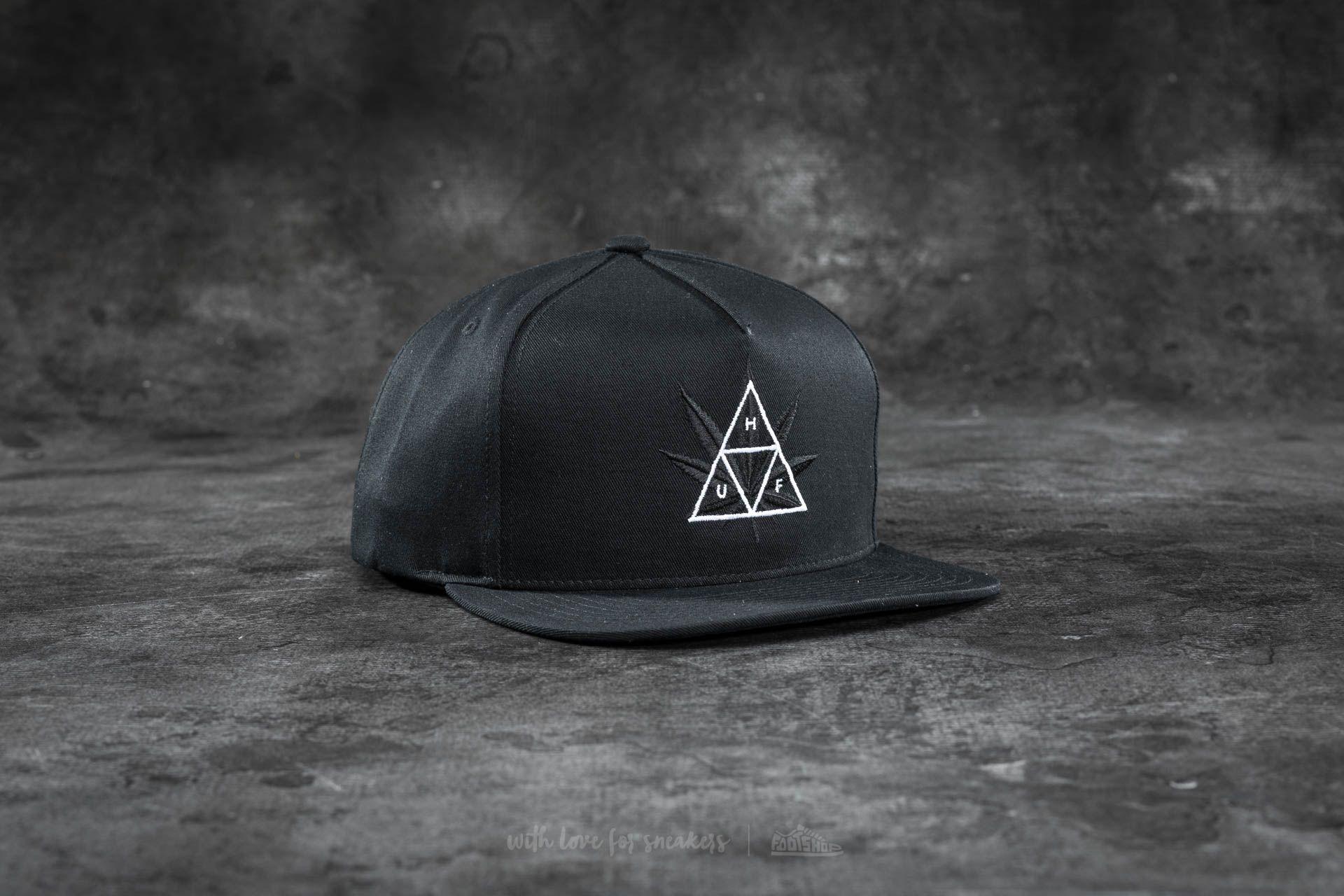 8e245eb14 HUF Apparel 420 Triple Triangle Snapback Black | Footshop