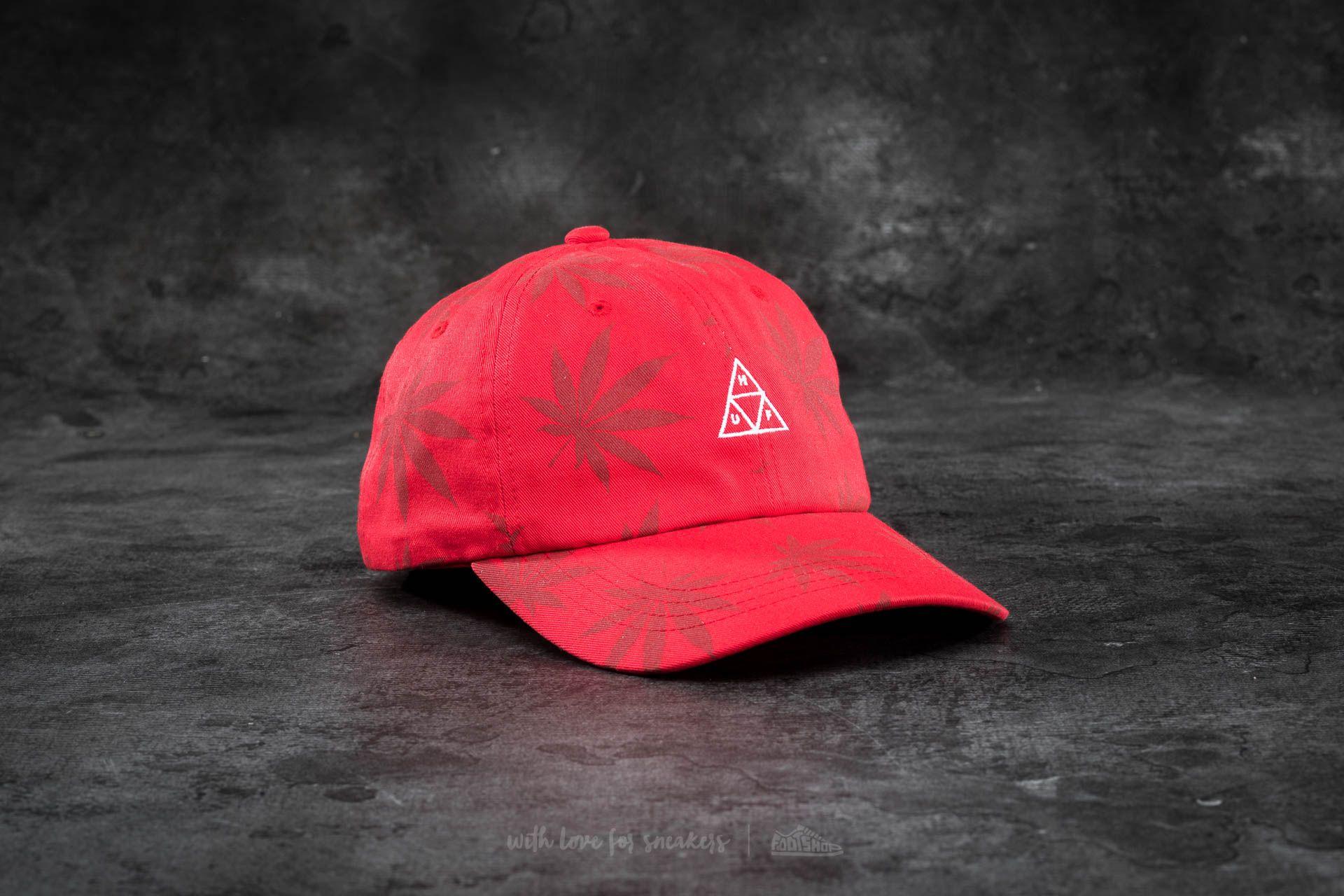 fb35420f6 HUF Apparel 420 Triple Triangle Dad Hat Red | Footshop
