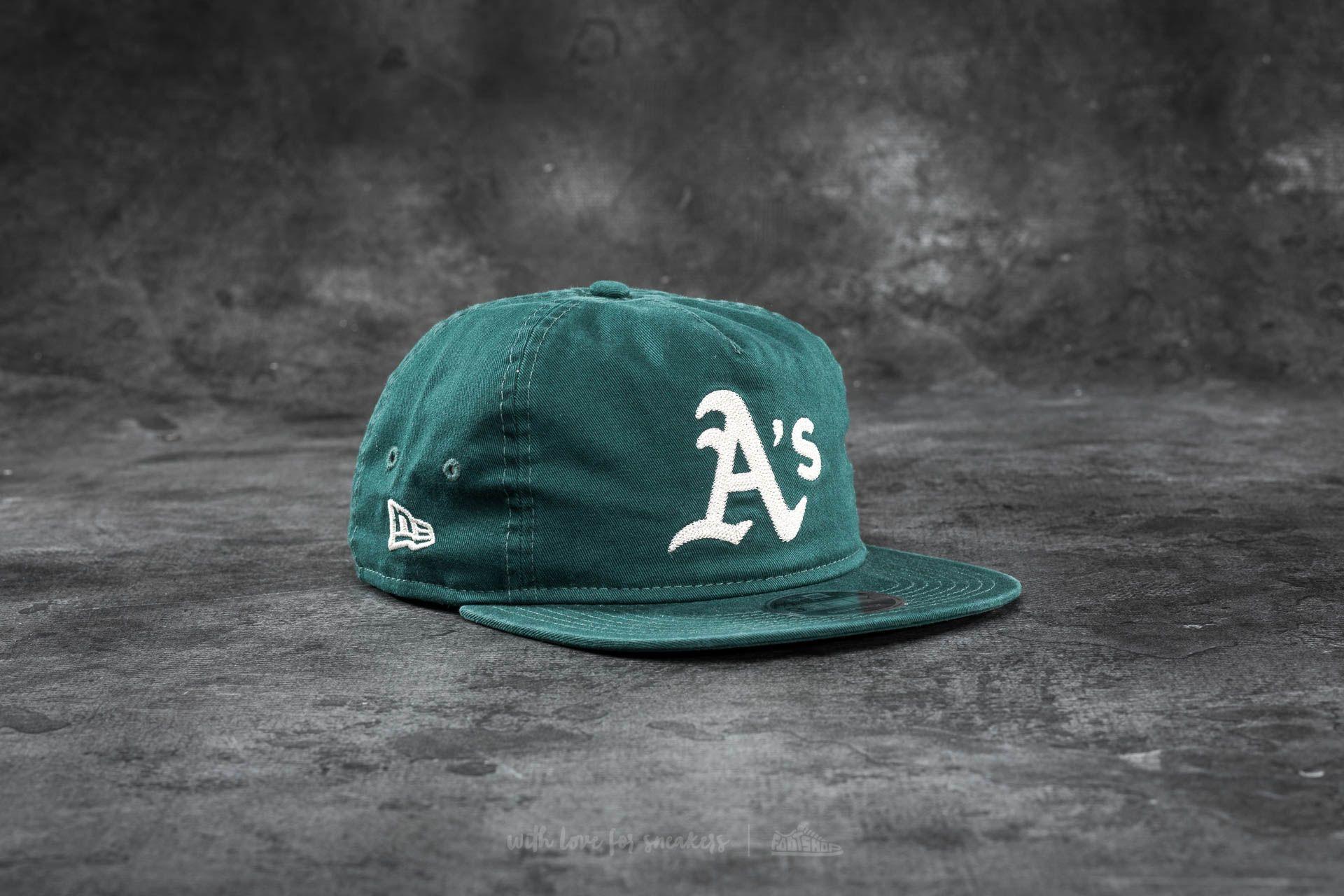 fd529010859ae New Era 9Fifty Chain Stitch Oakland Athletics Cap Dark Green ...