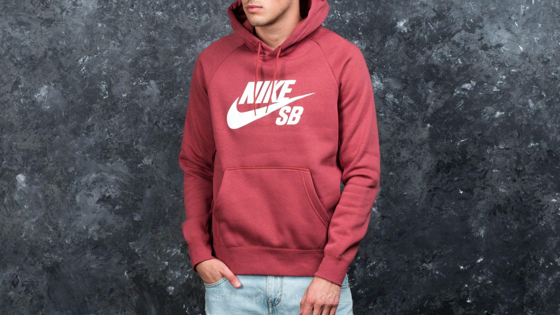 21de37f0fc417 Nike SB Icon Pullover Hoodie Cedar/ White | Footshop