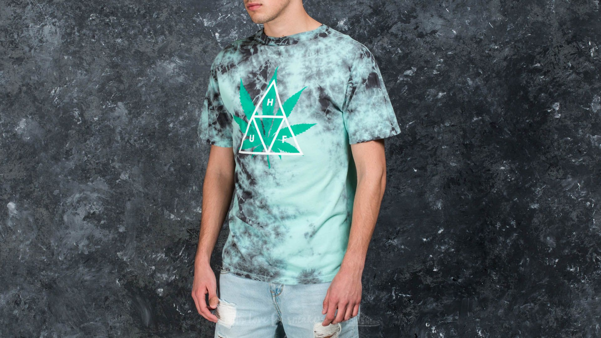 HUF Apparel 420 Triple Triangle Tee Smoke Mint | Footshop