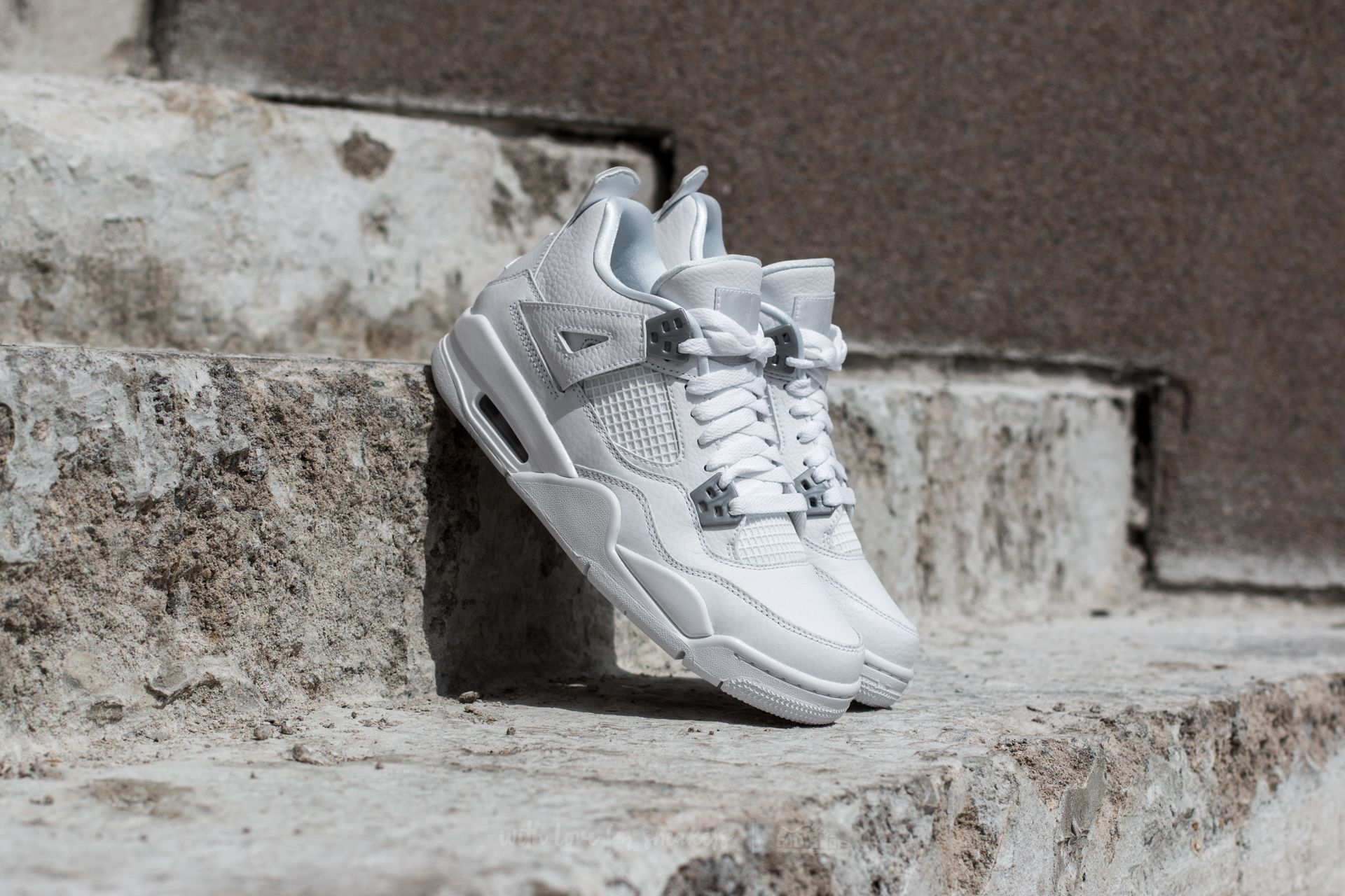 fdca247323d Air Jordan 4 Retro BG 'Pure Money' White/ Metallic Silver | Footshop