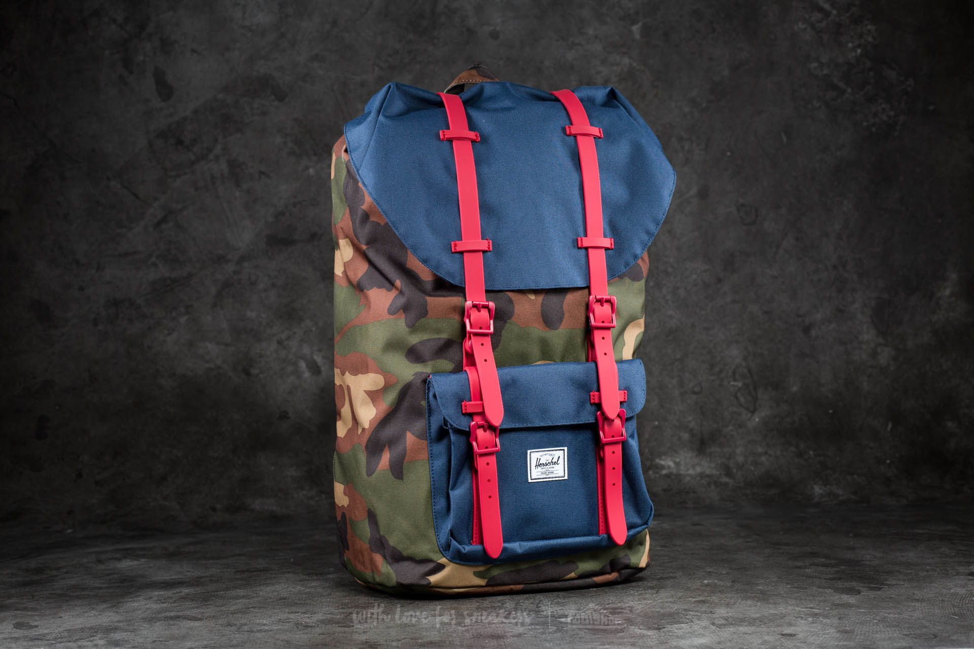 ffb95d73aa5 Herschel Supply Co. Little America Backpack Woodland Camo  Navy ...