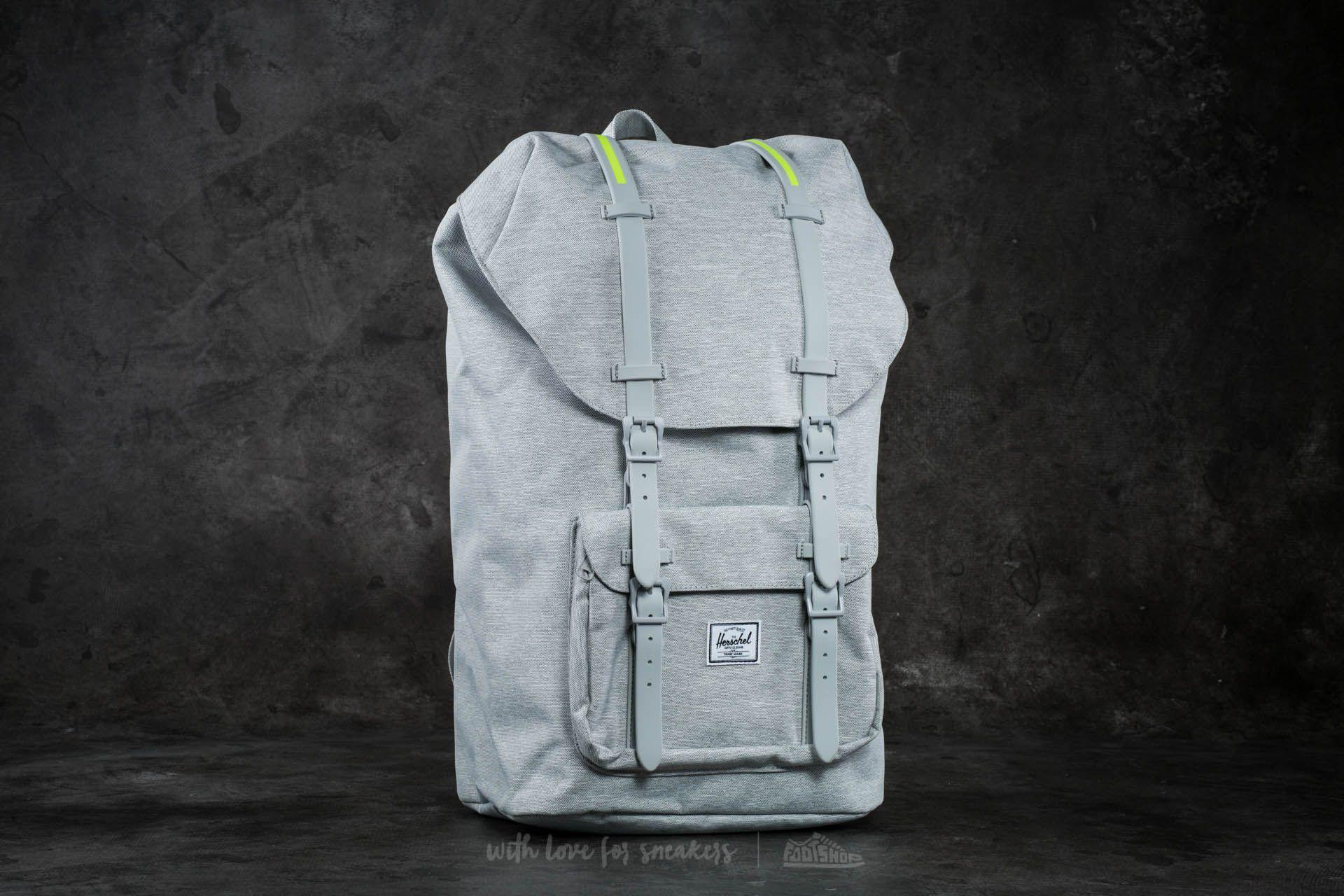 2af7cb55a3d Herschel Supply Co. Little America Backpack Light Grey Crosshatch ...