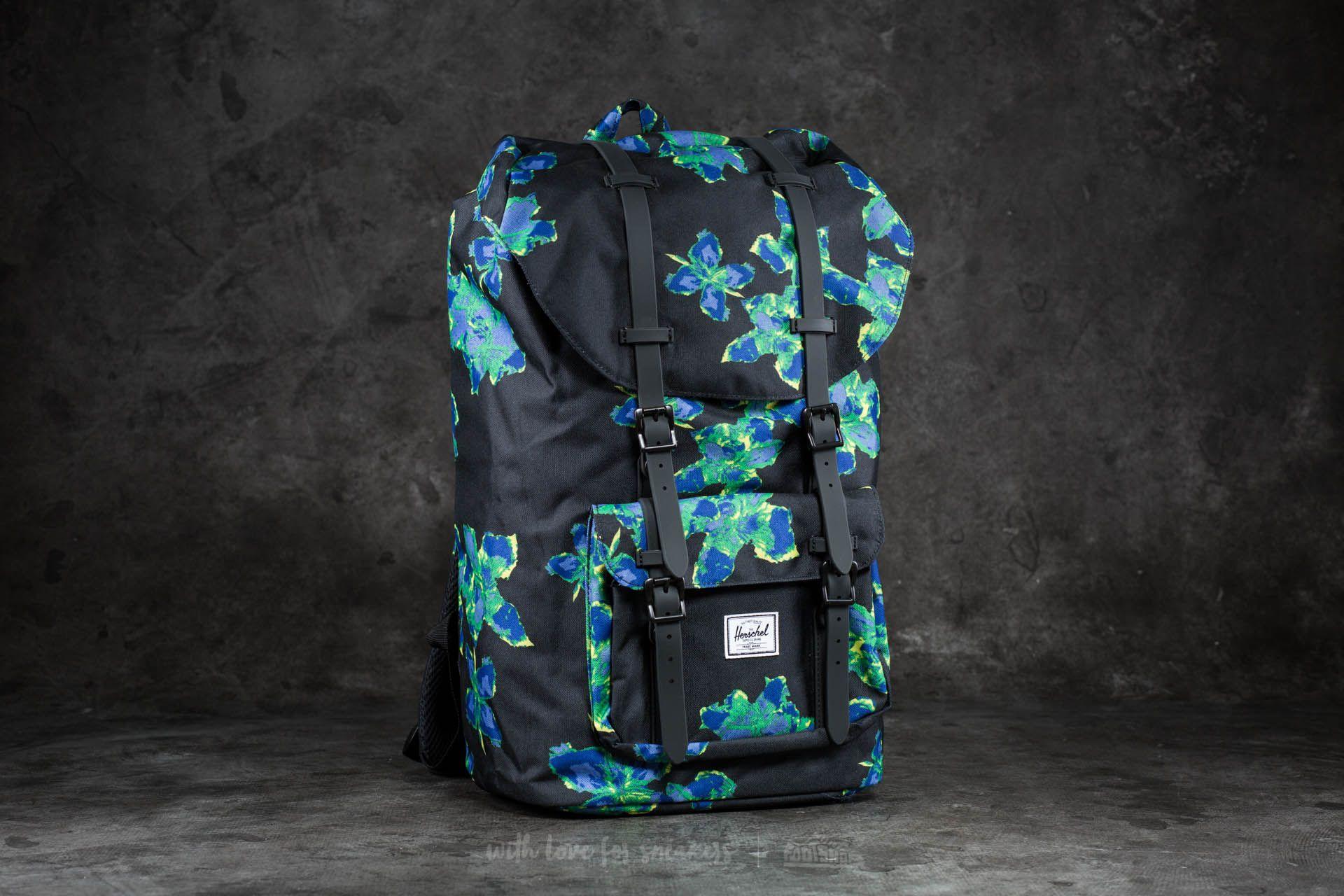 3f3134b63d Herschel Supply Co. Little America Backpack. Neon Floral  Black Rubber