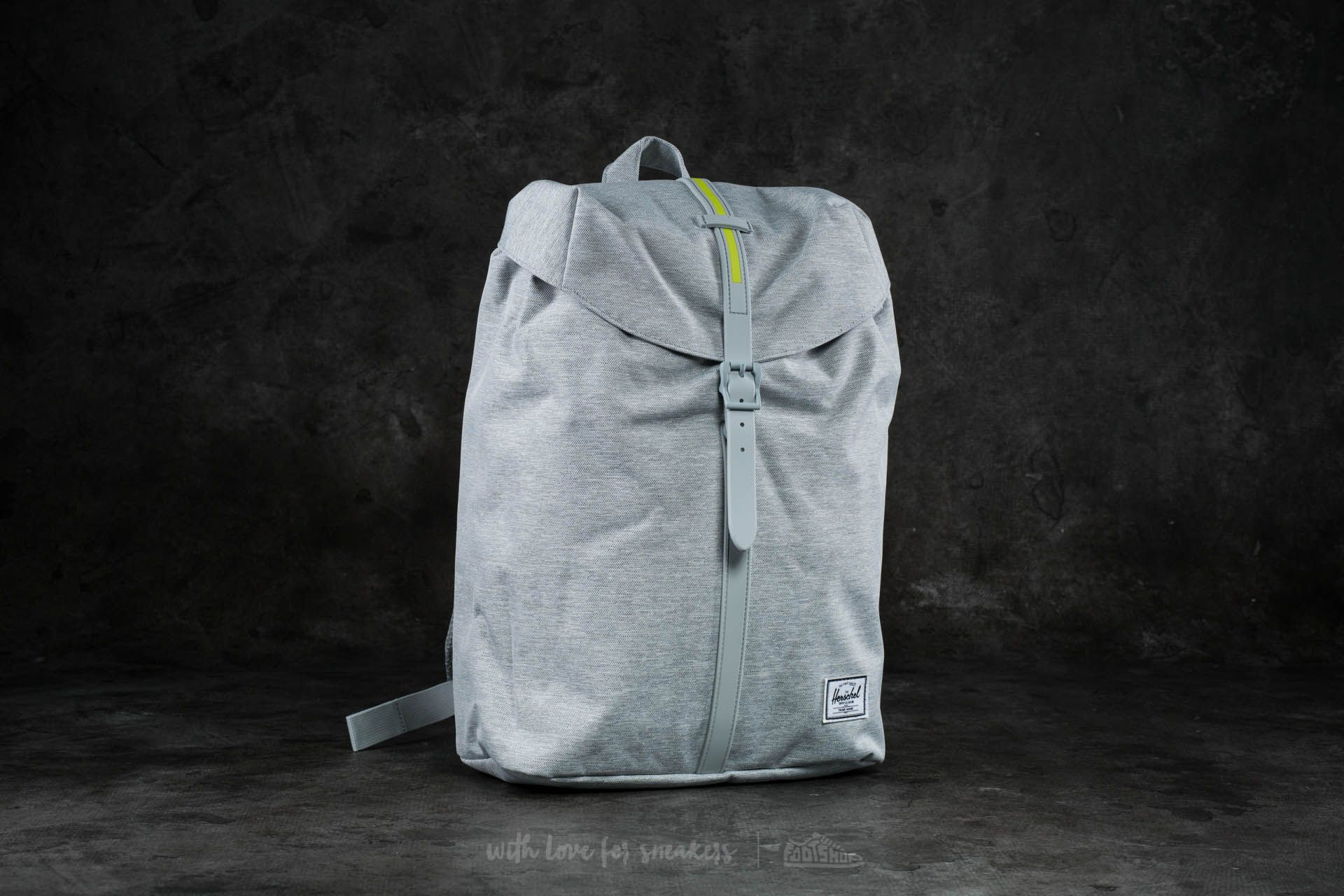879be4ca99fd Herschel Supply Co. Post Backpack Light Grey Crosshatch  Lime ...
