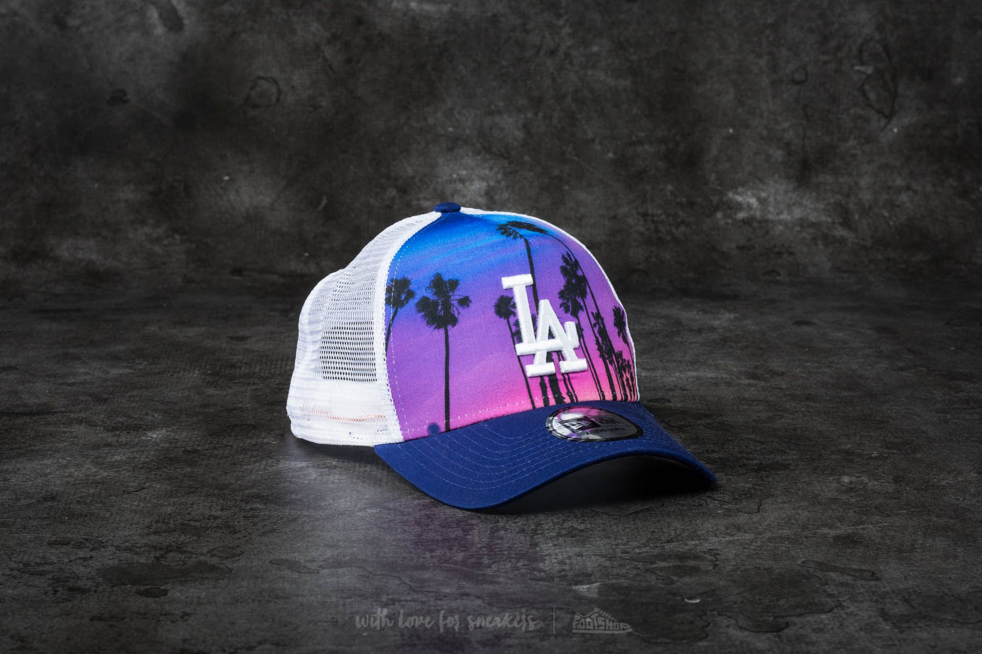 8096843049b New Era Adjustable West Coast Print Los Angeles Dodgers Cap Navy  Pink