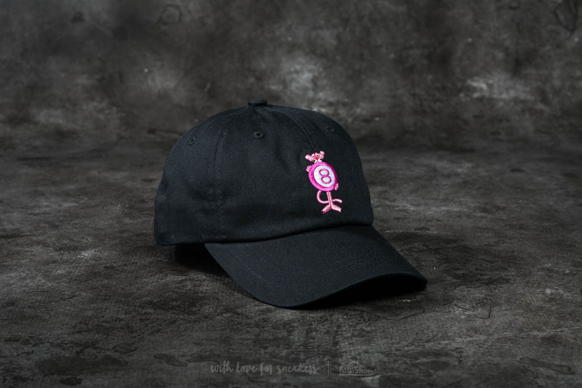 986d49d88a7 HUF x Pink Panther 8 Ball Dad Cap Black