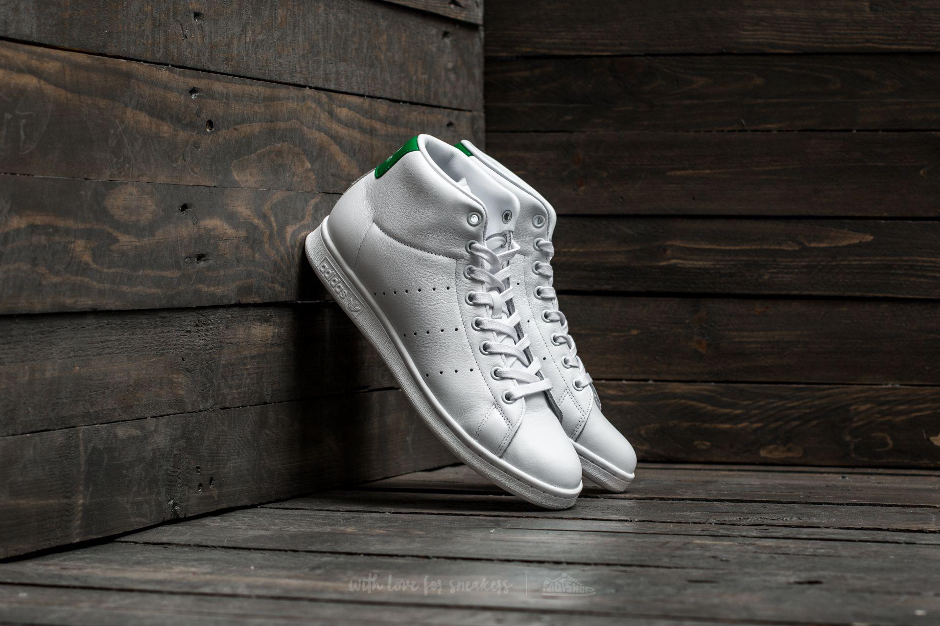 a8898b07471 adidas Stan Smith MID Footwear White  Footwear White  Green ...