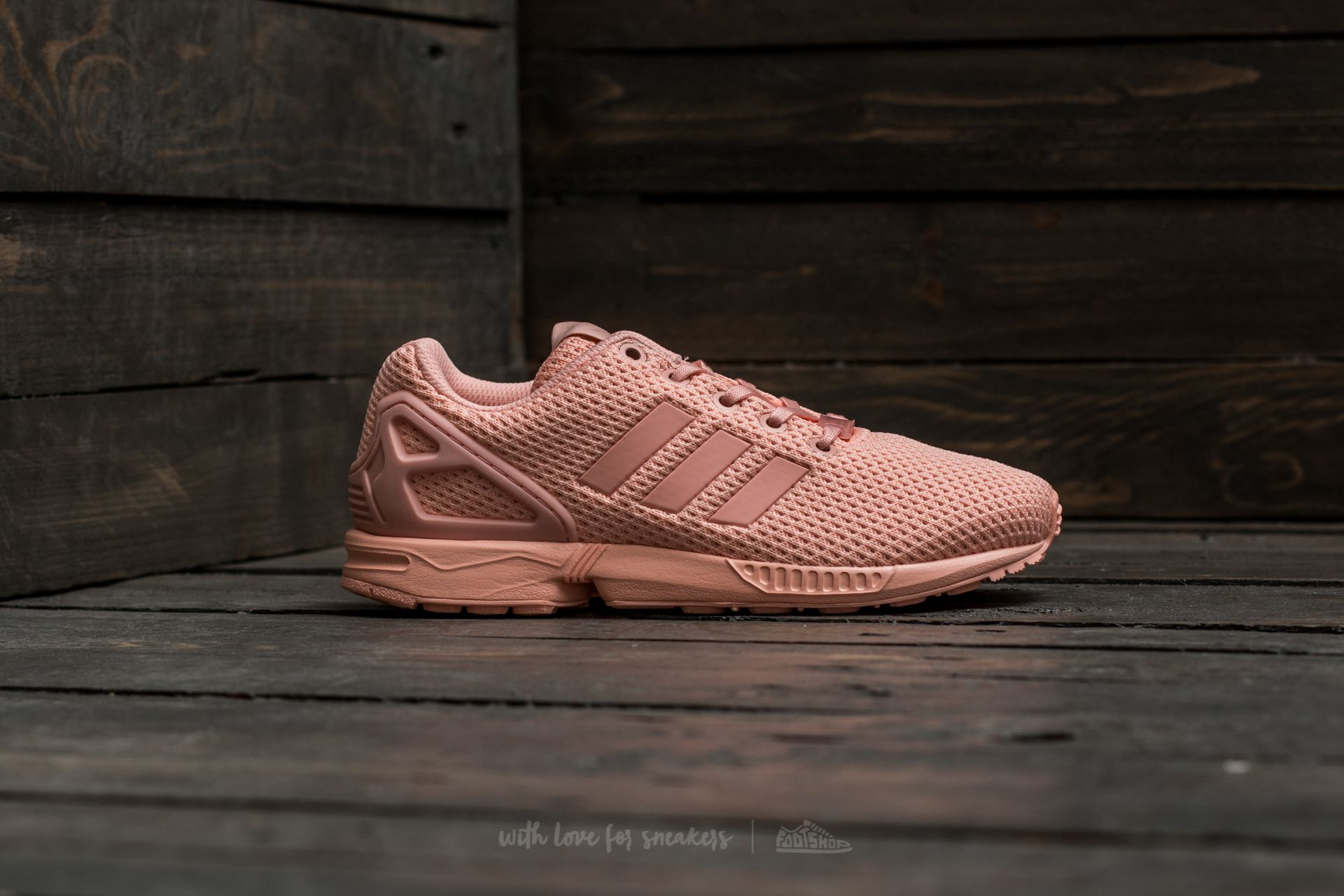 shoes for cheap best value san francisco adidas ZX Flux J Haze Coral/ Haze Coral/ Haze Coral | Footshop