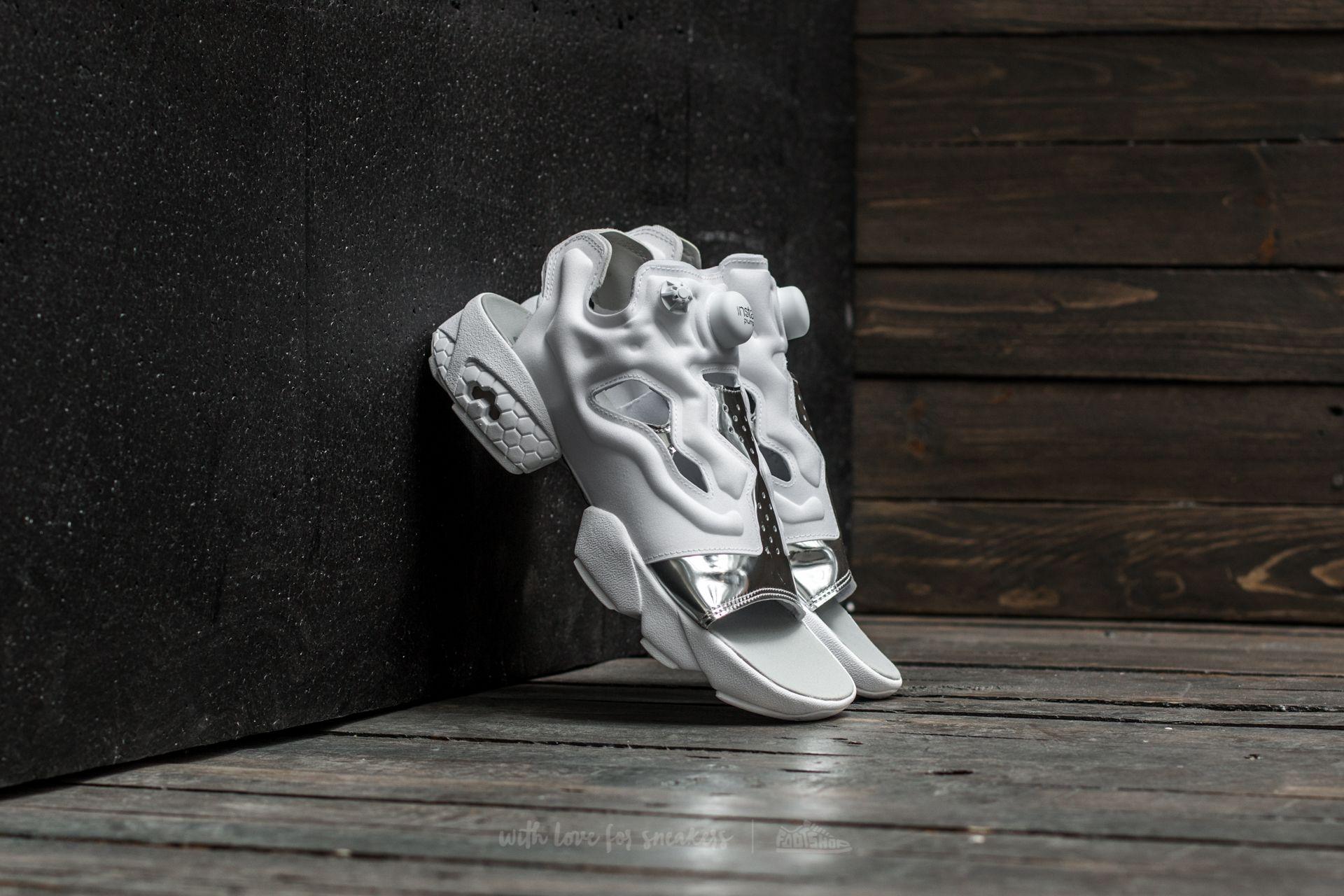 a3f325f61 Reebok Instapump Fury Sandal Magic Hour White  Silver Metal ...