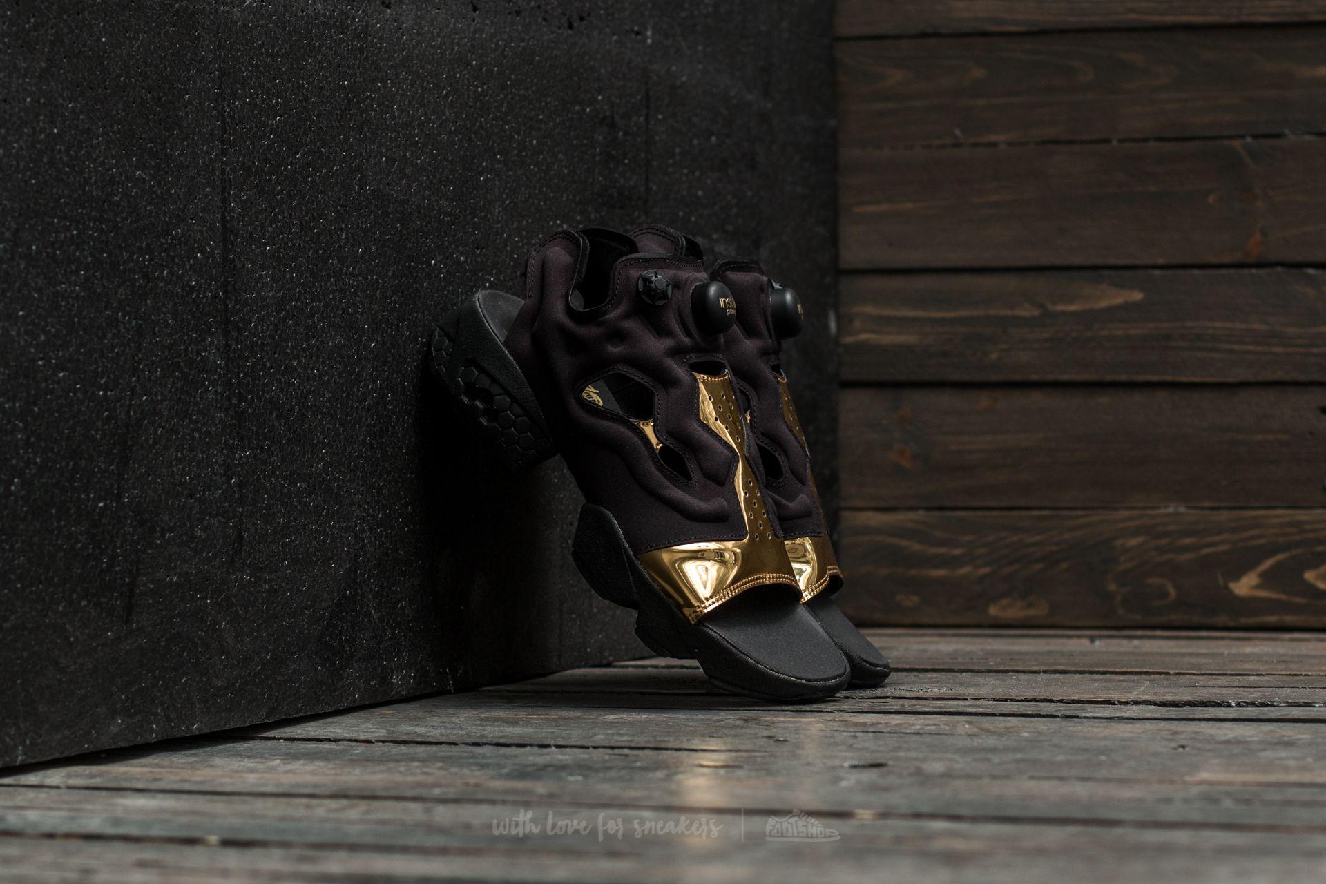 3a1224d2b31 Reebok Instapump Fury Sandal Magic Hour Black  Gold Metal  White ...