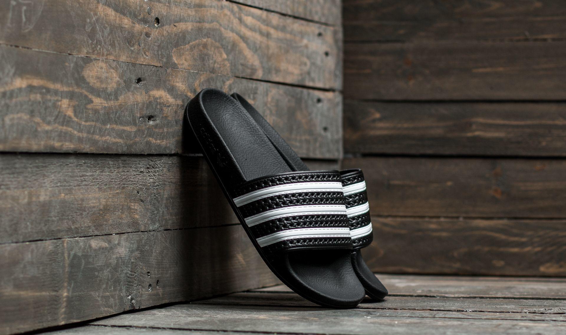 adidas Adilette Black/ White/ Black EUR 46