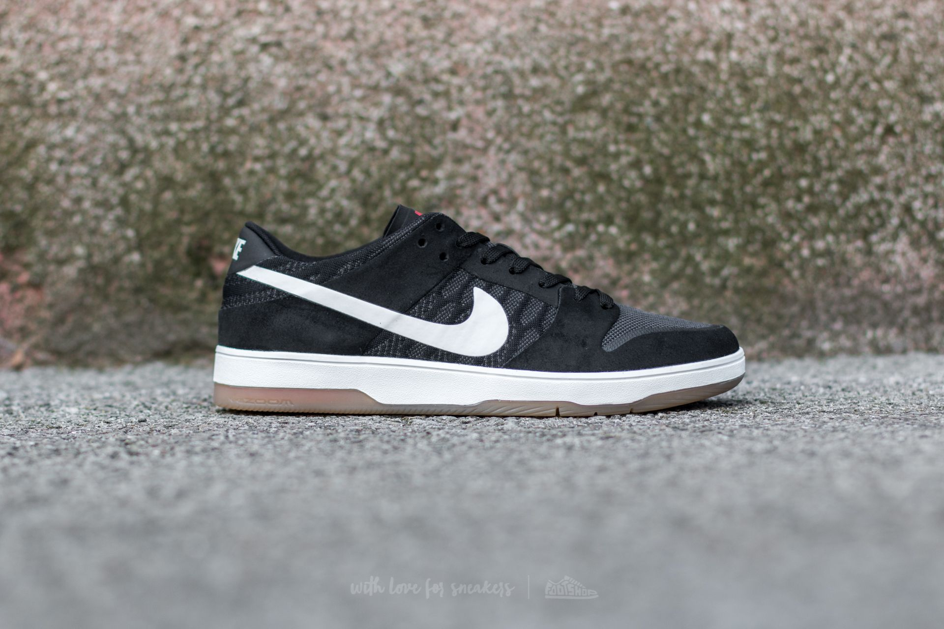 huge discount 00f4c 2a607 Nike SB Zoom Dunk Low Elite Black/ White-Gum Light Brown ...