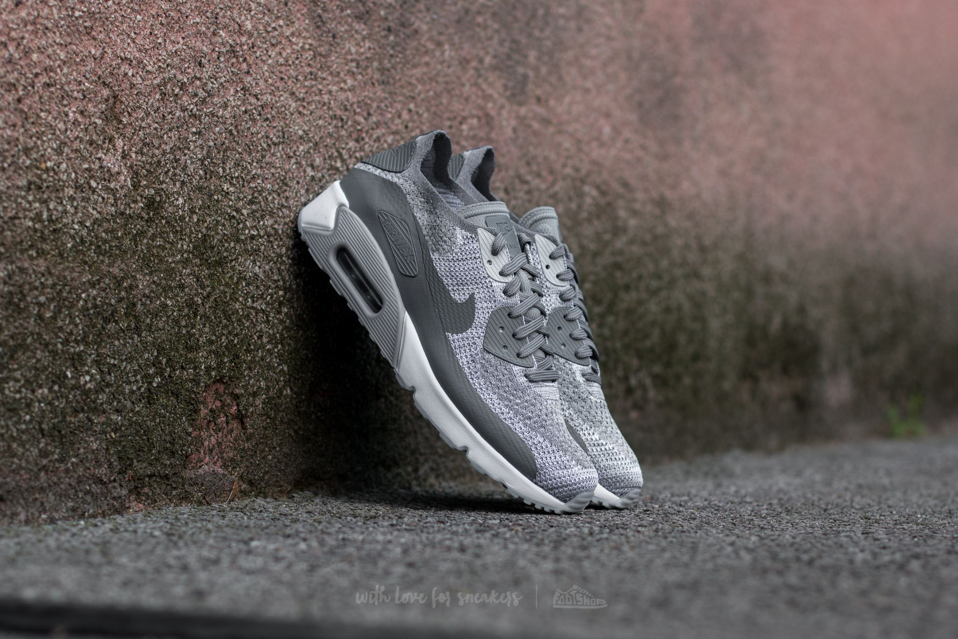 check out 24893 14a09 Nike Air Max 90 Ultra 2.0 Flyknit. Pure Platinum  Cool Grey-White