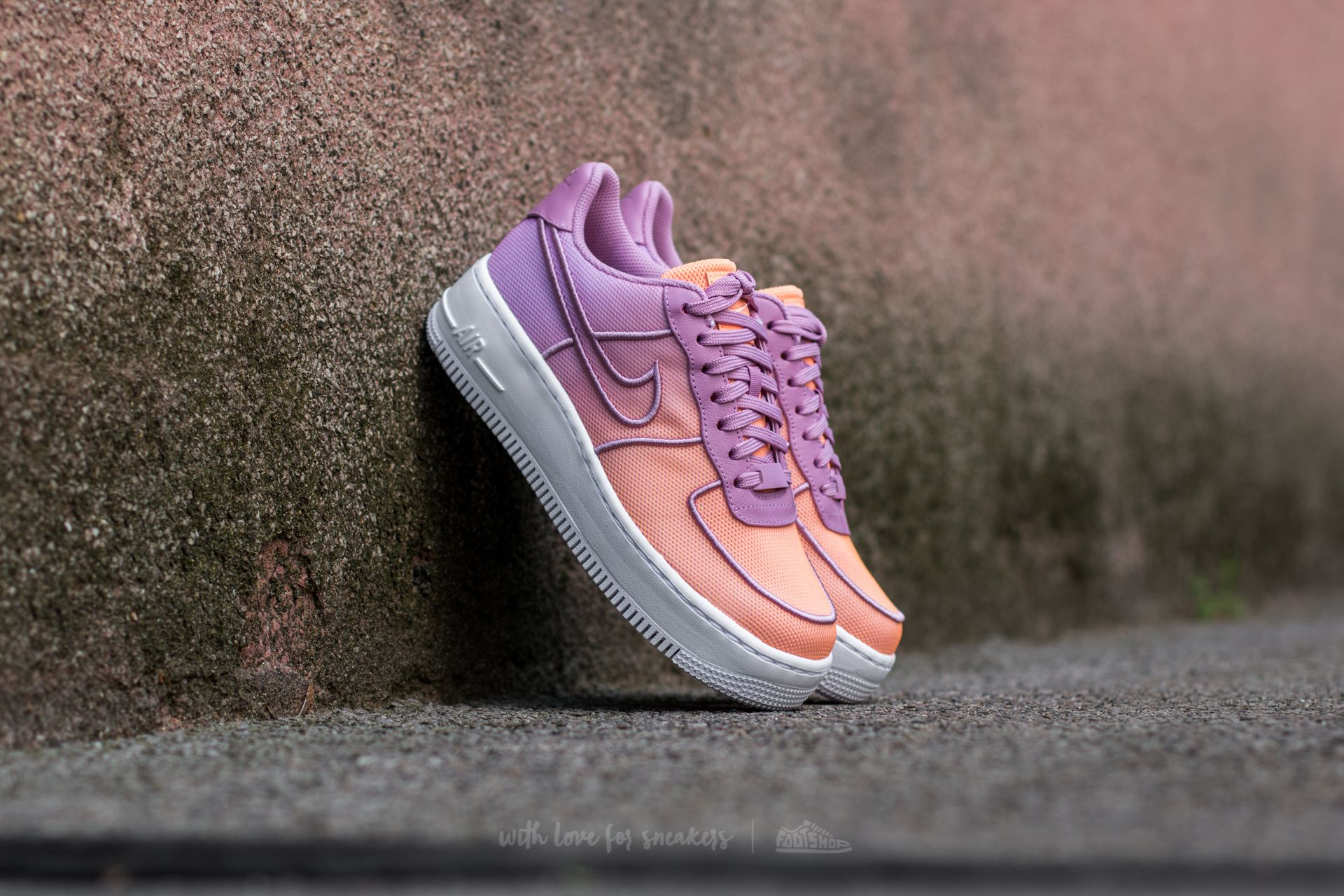 ac89a63ef8e Nike W Air Force 1 Low Upstep BR Orchid/ White-Sunset Glow ...