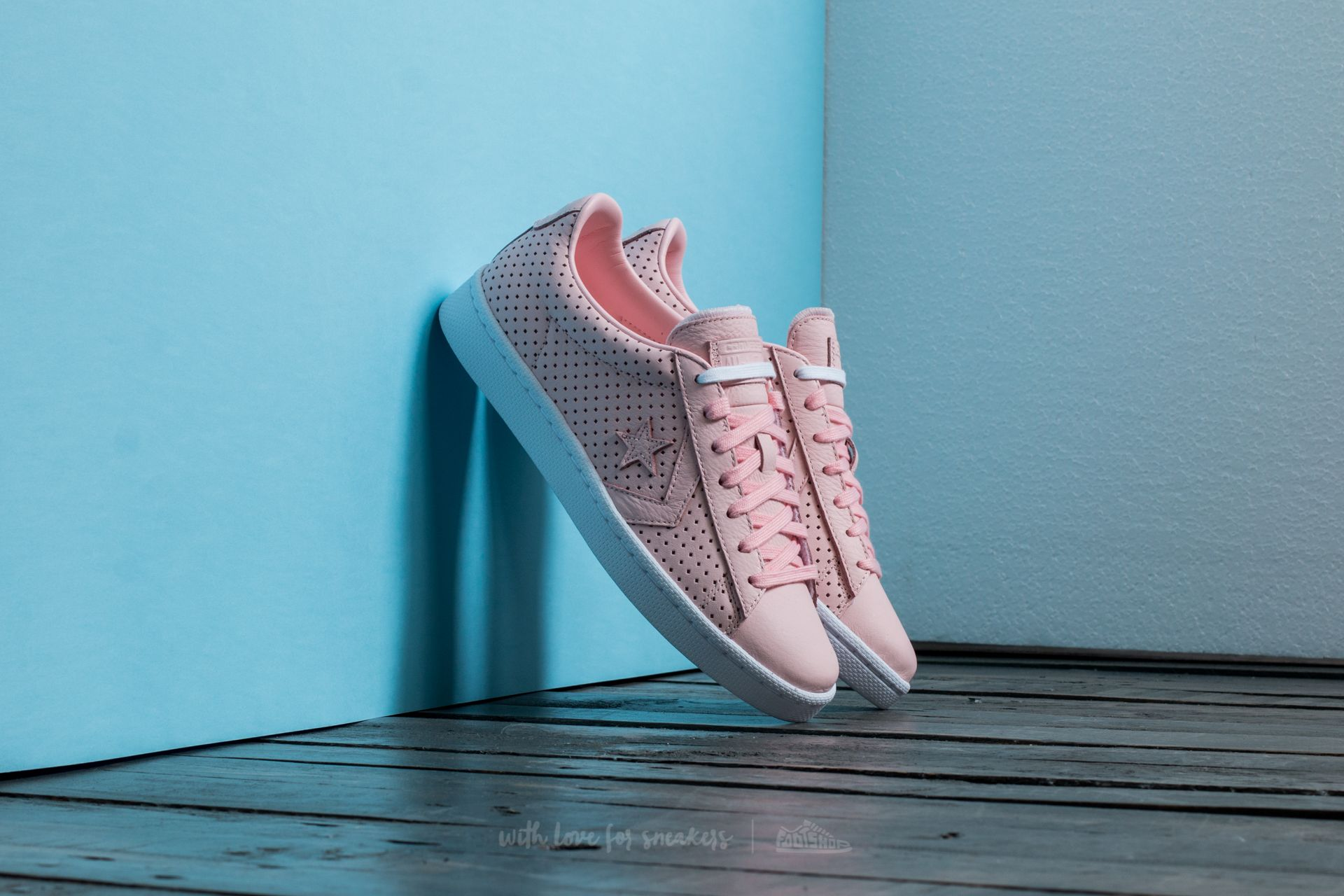 converse pro leather rosa