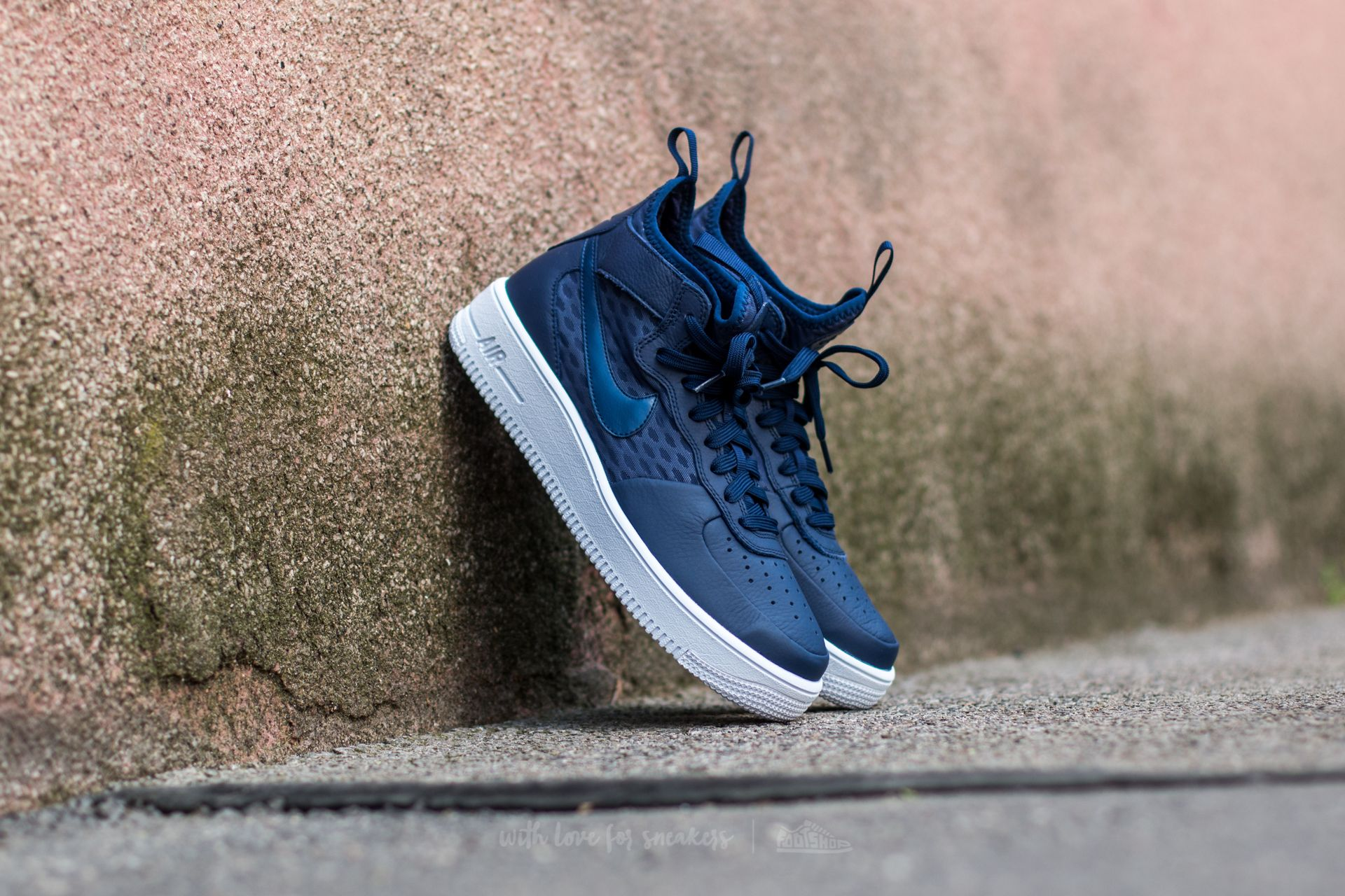 best sneakers c3f3b accbe Nike Air Force 1 Ultraforce Mid. Binary Blue  Binary Blue-White
