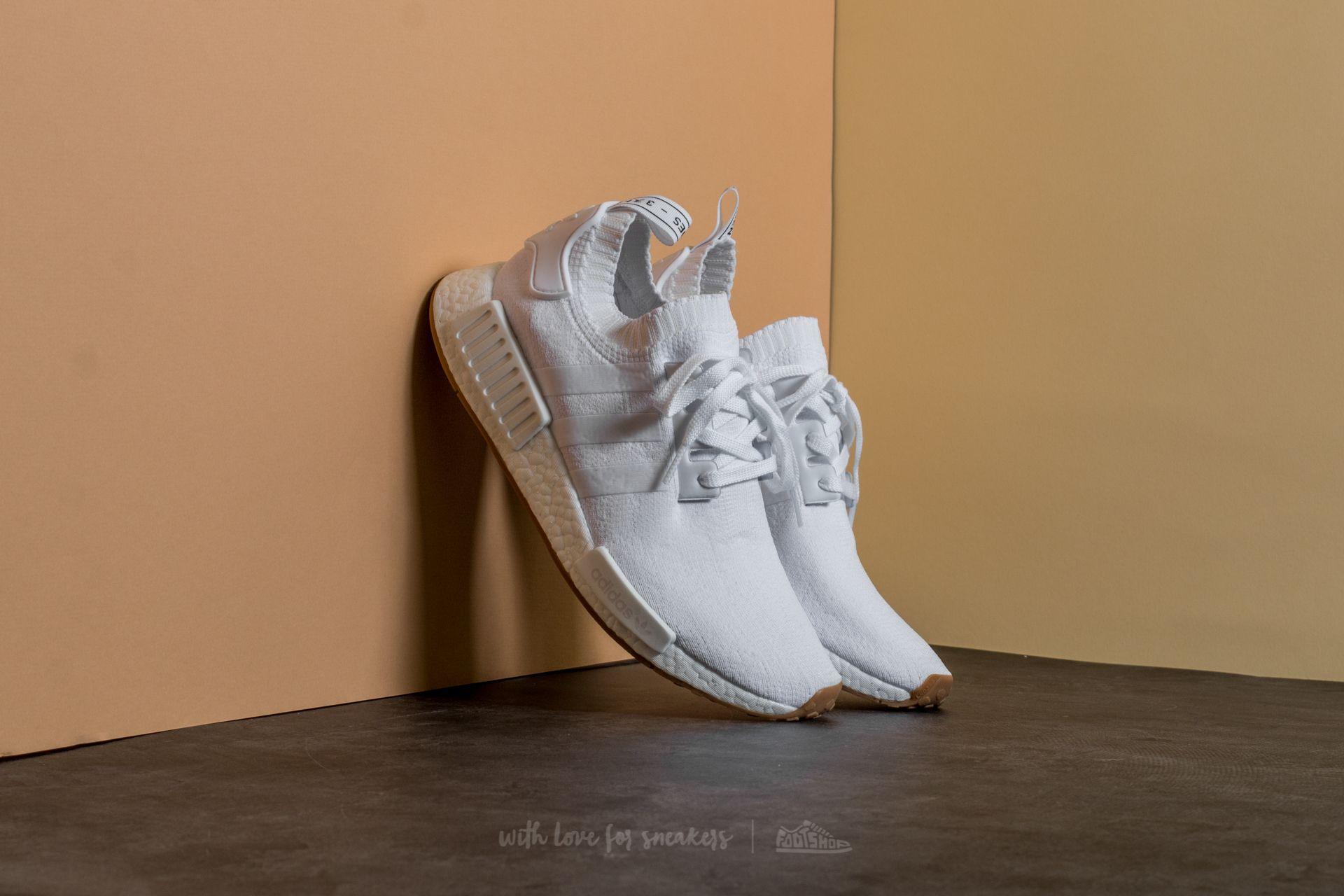adidas NMD_R1 Primeknit Ftw White/ Gum   Footshop