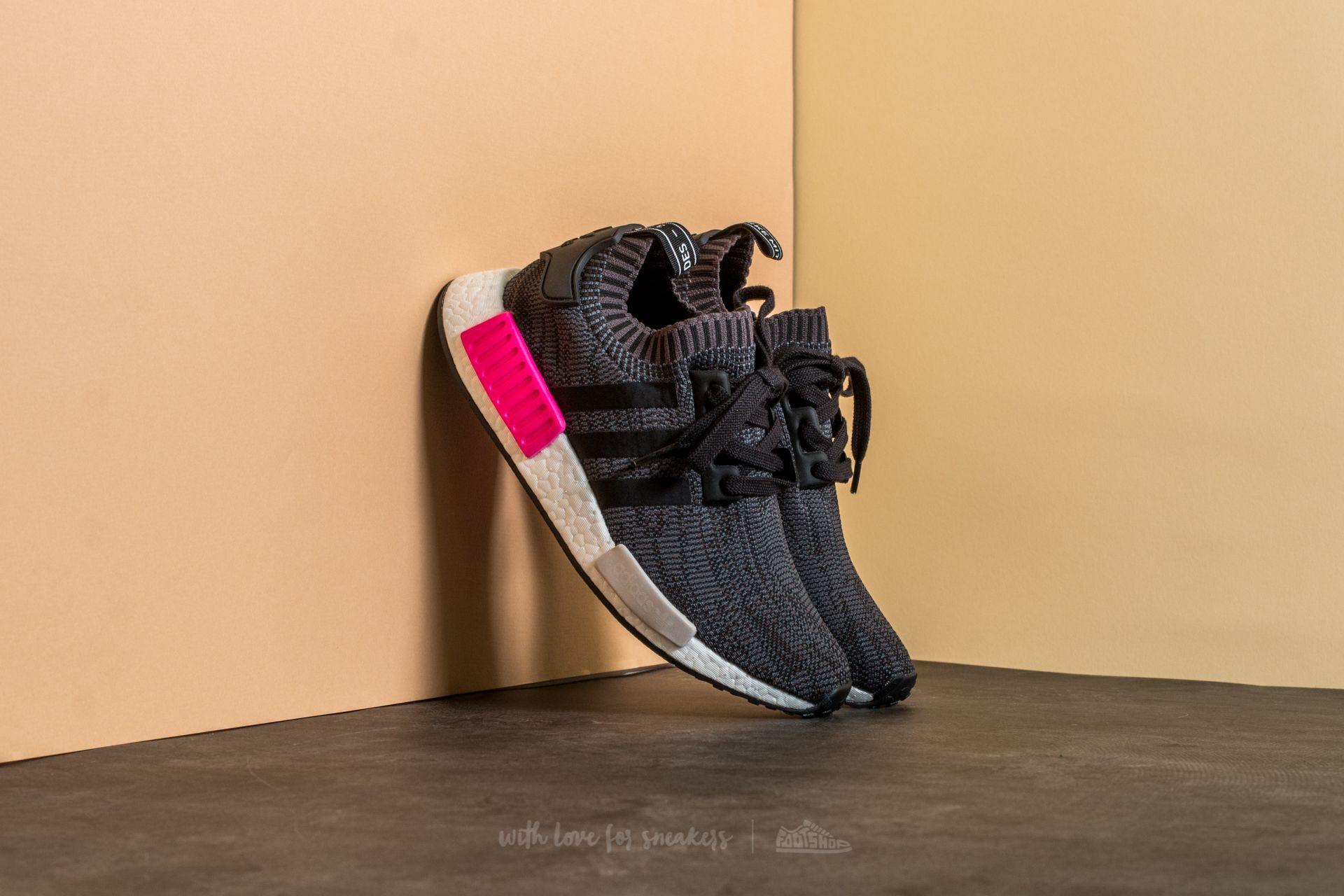 d21a9760bce7c adidas NMD R1 W Primeknit Core Black  Shock Pink