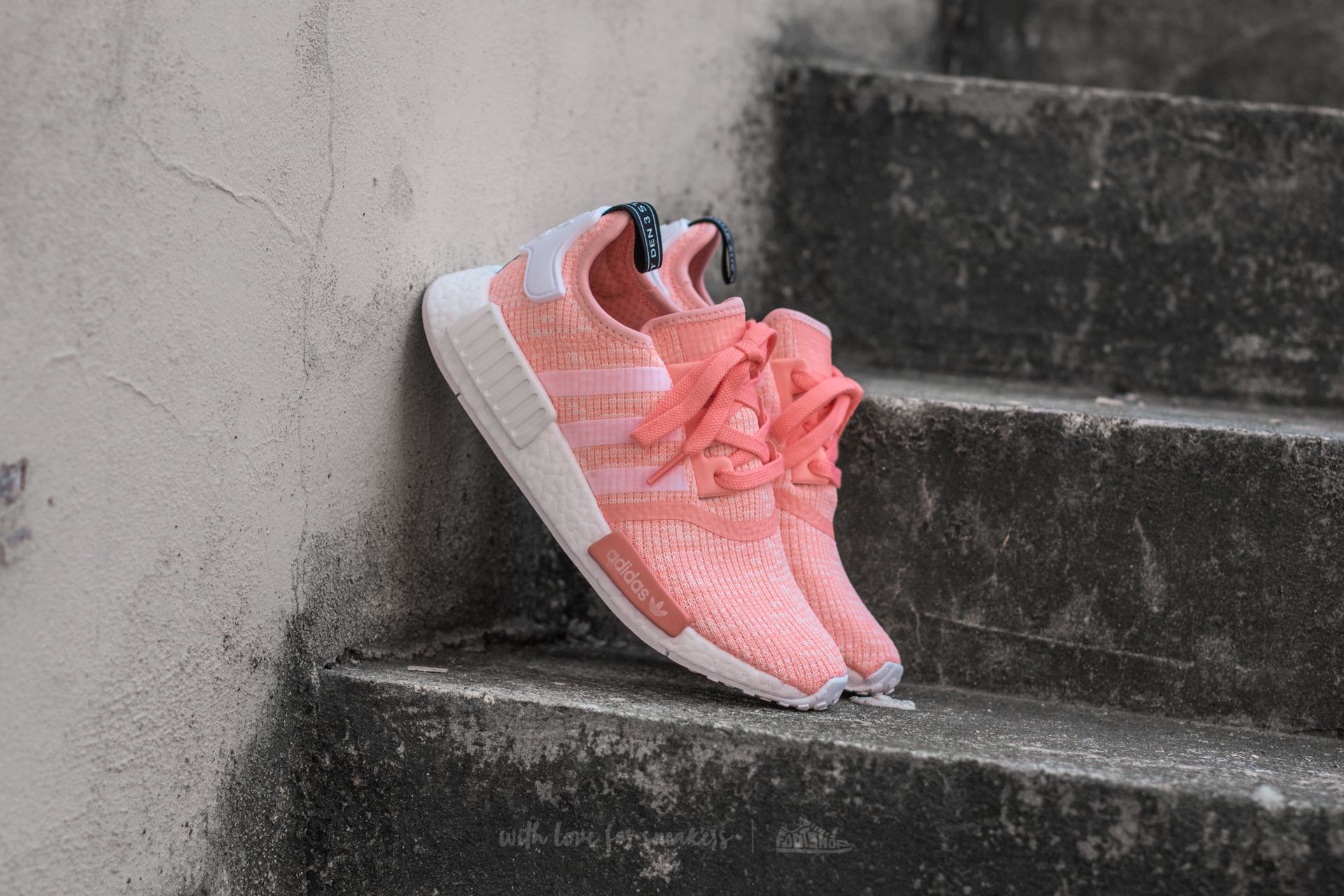 d0f96acaa47 adidas NMD R1 W Sun Glow  Ftw White  Haze Coral