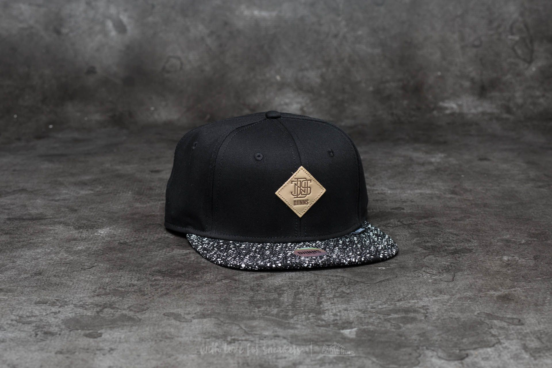 Djinn s 6 Panel Patch Spots Snapback Black  aad50f919432