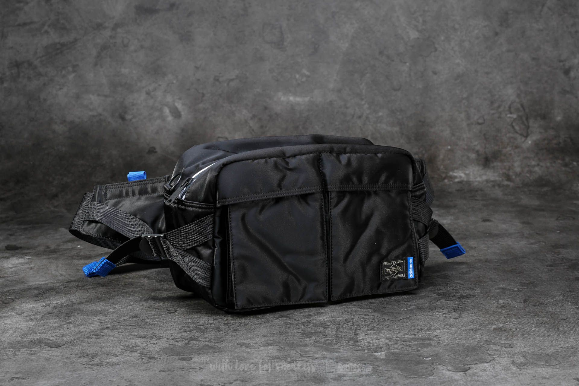 2f274d90a0 adidas x Porter 2Way Waist/ Shoulder Bag Black | Footshop