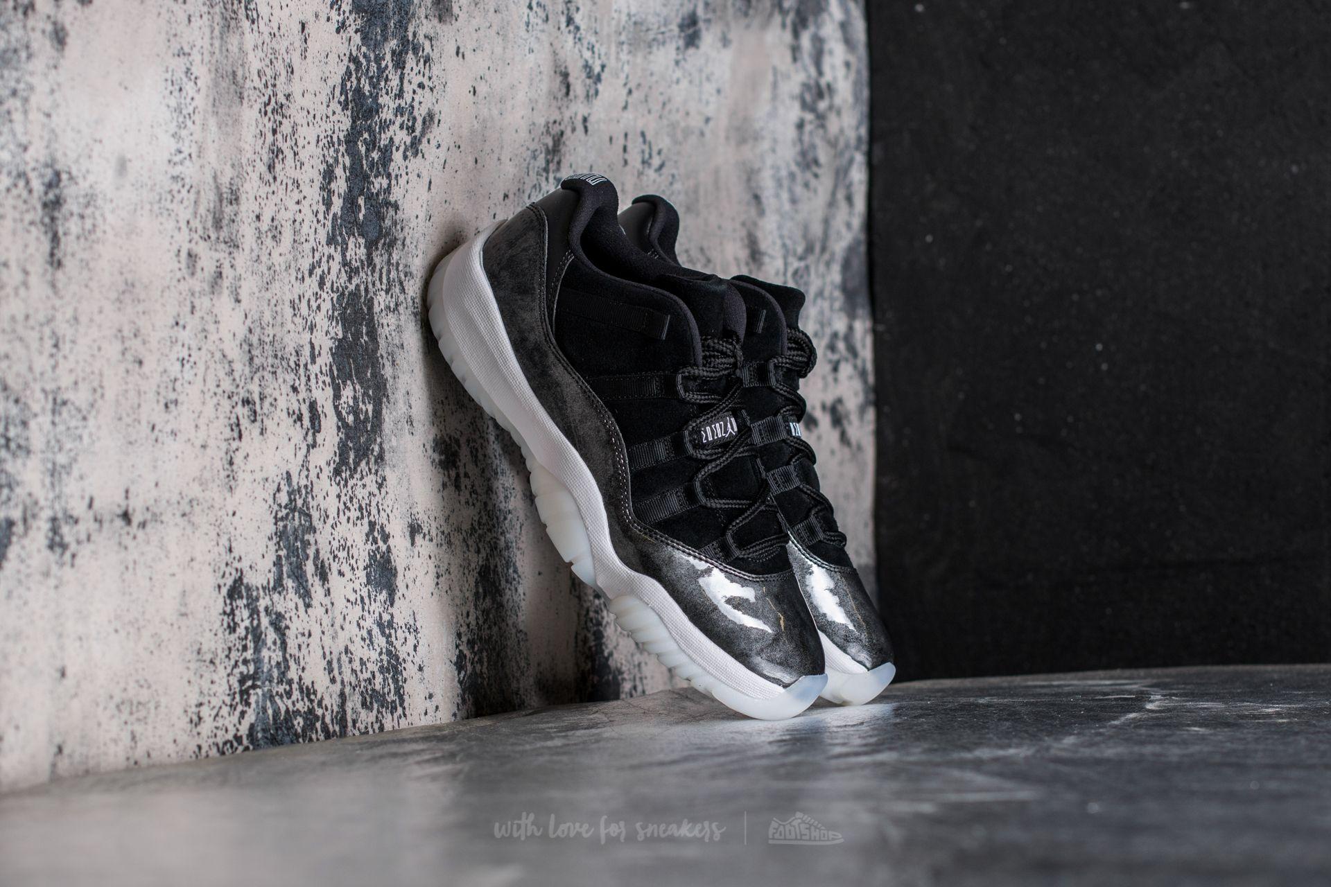 superior quality 34df0 39385 Air Jordan 11 Retro Low Black  White-Metallic Silver