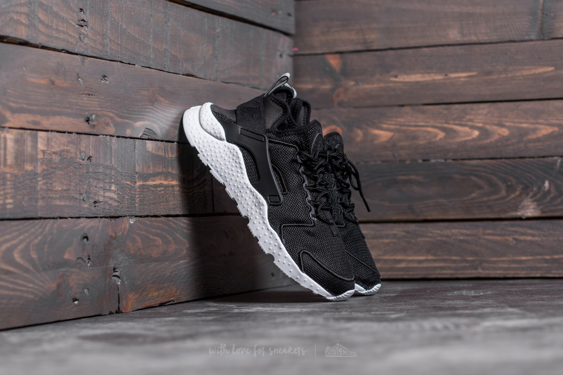 new concept 01921 c18ce Nike W Air Huarache Run Ultra Br Black Black-White-Glacier Blue