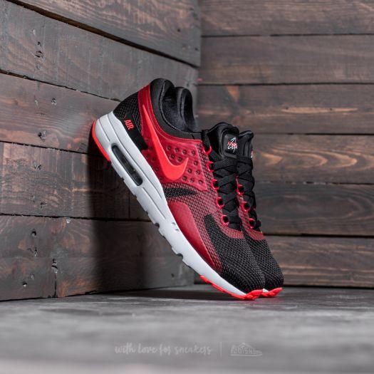 best service 2f6e9 ca2ec Nike Air Max Zero Essential Black/ Bright Crimson-Gym Red ...