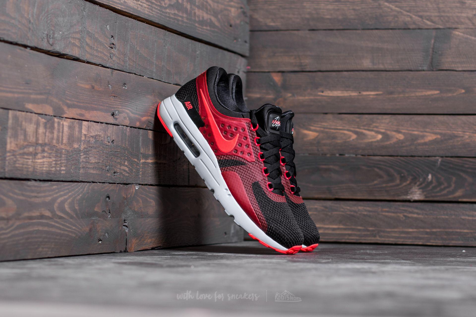 Nike Air Max Zero Essential Black  Bright Crimson-Gym Red  1f02e335f