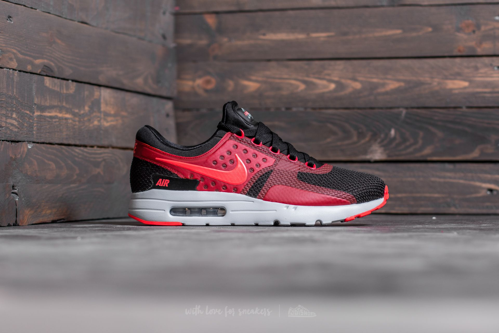best service 99313 060cb Nike Air Max Zero Essential Black/ Bright Crimson-Gym Red ...