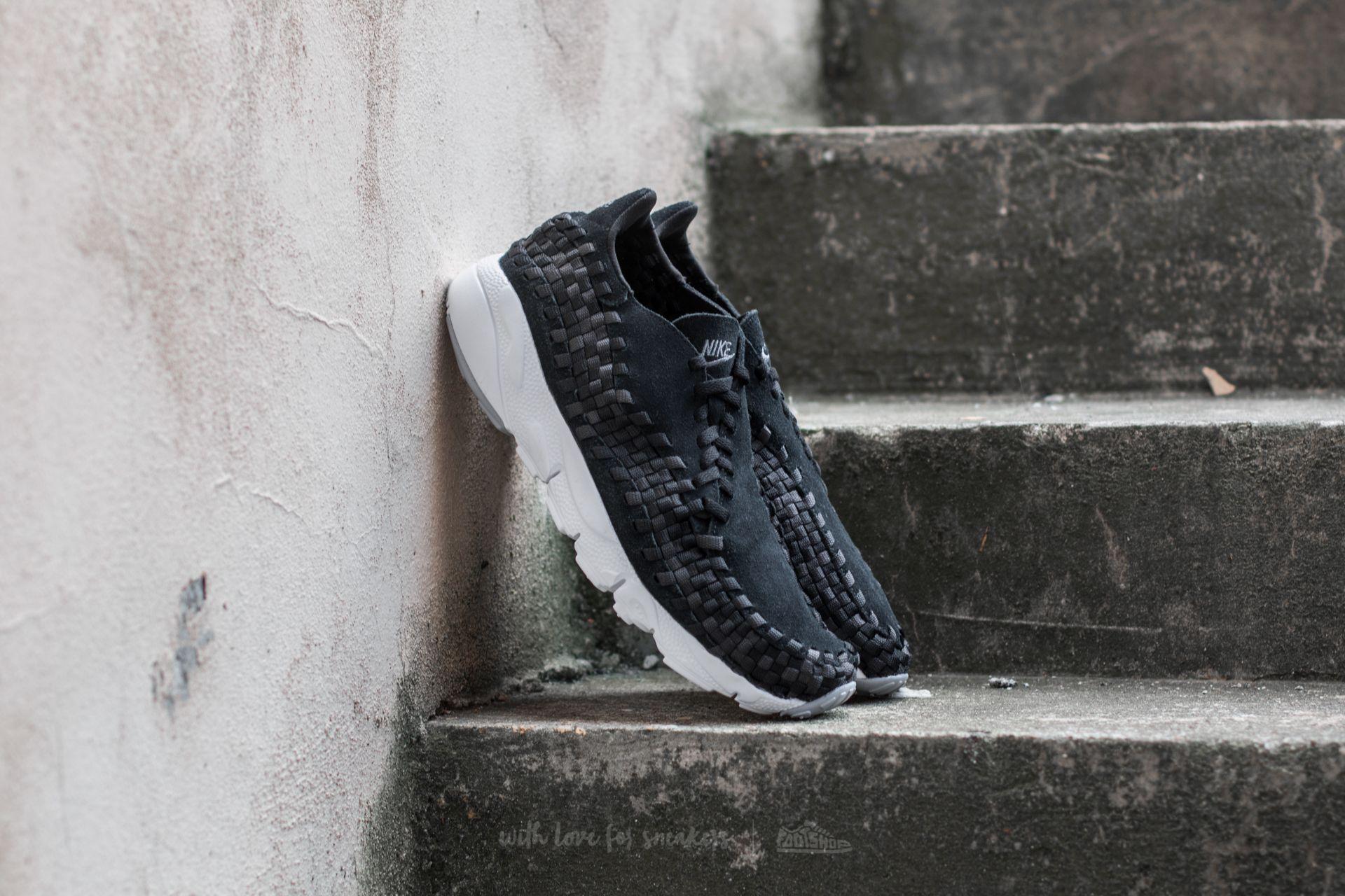 e1291cc0165a Nike Air Footscape Woven NM Black  Dark Grey-Wolf Grey