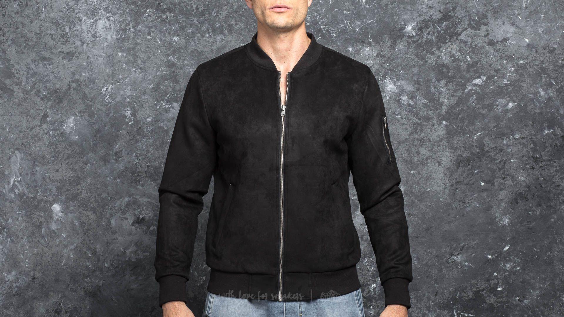 Urban Classics Imitation Suede Bomber Jacket Black za skvělou cenu 910 Kč koupíte na Footshop.cz
