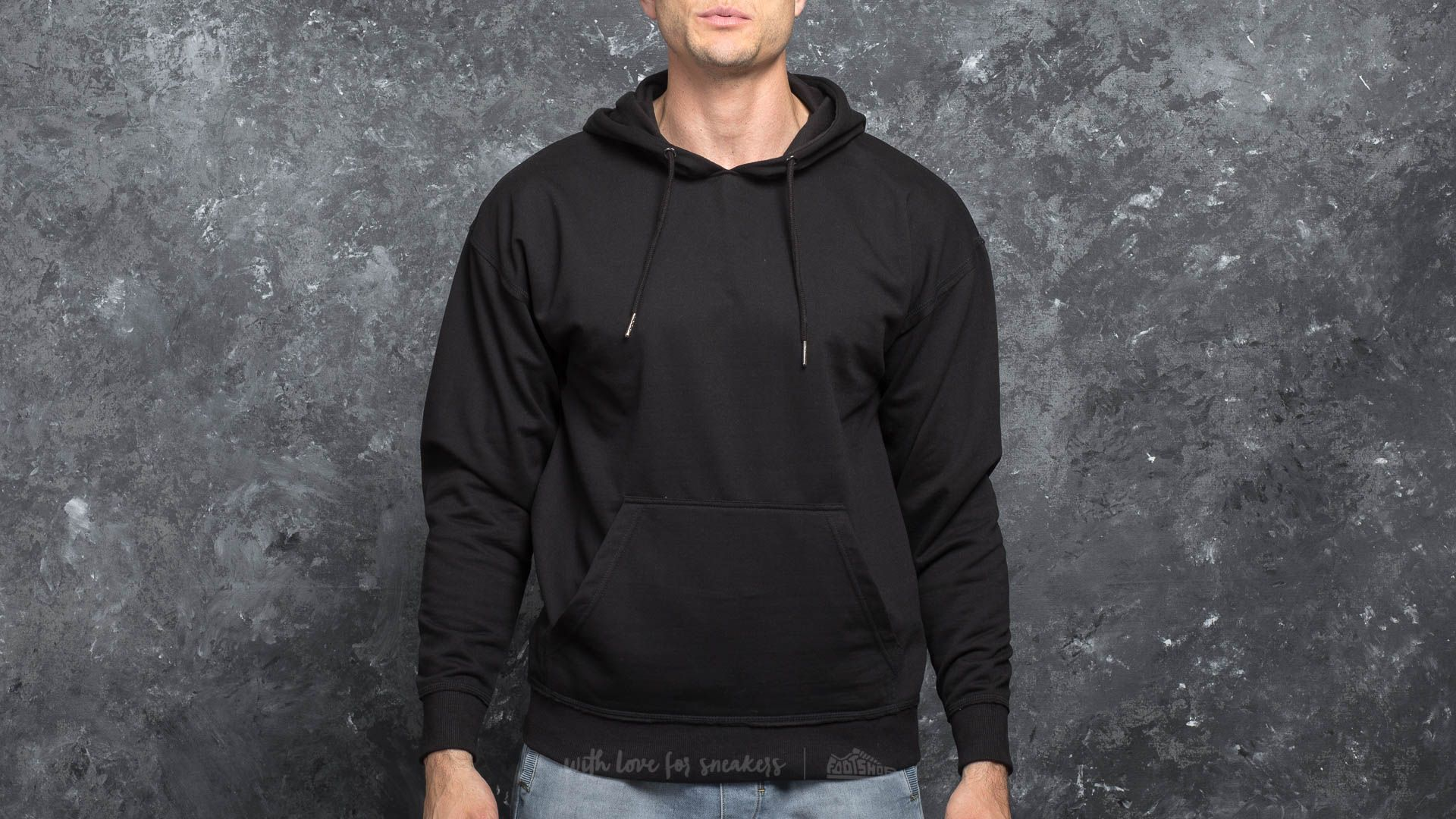 Kapucnis pulcsik Urban Classics Oversized Sweat Hoody Black