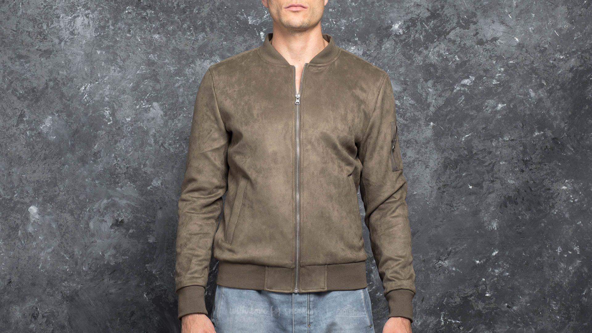 Urban Classics Imitation Suede Bomber Jacket