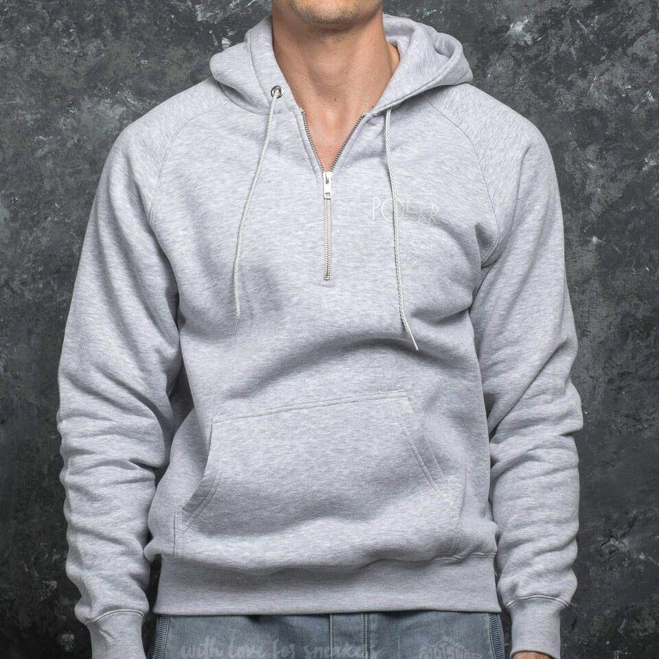 Polar Skate Co. Half Zip Hood Sports Grey, Gray