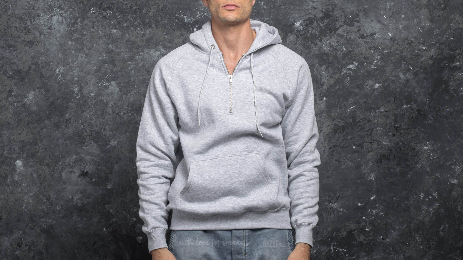 Polar Skate Co. Half Zip Hood Sports Grey za skvělou cenu 1 190 Kč koupíte na Footshop.cz
