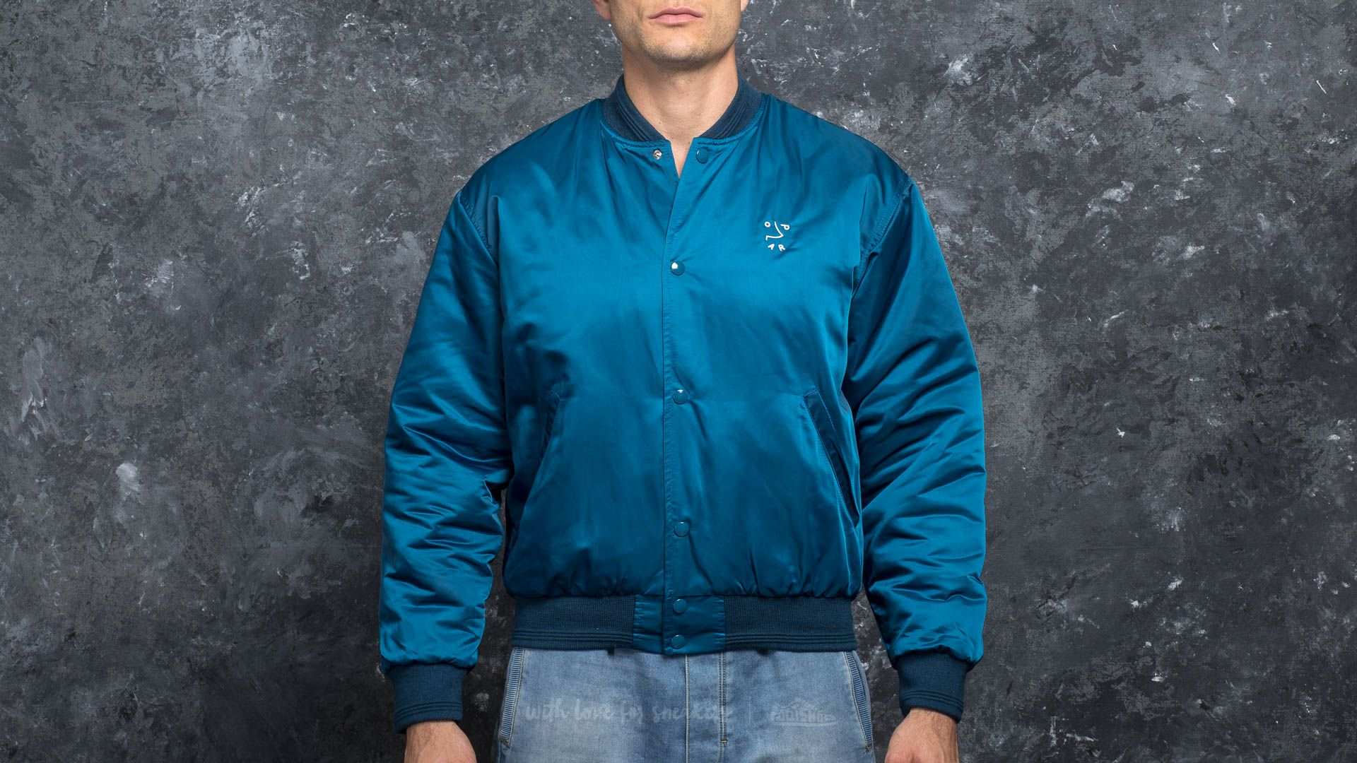 Bombery Polar Skate Co. College Jacket Petrol Navy