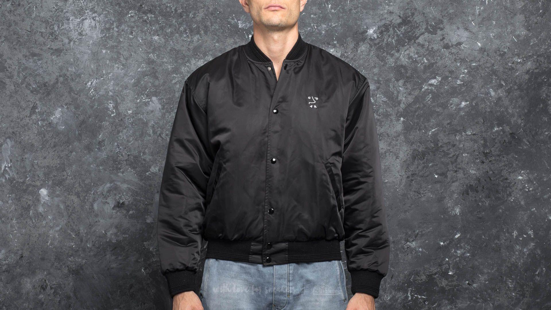 Polar Skate Co. College Jacket Black