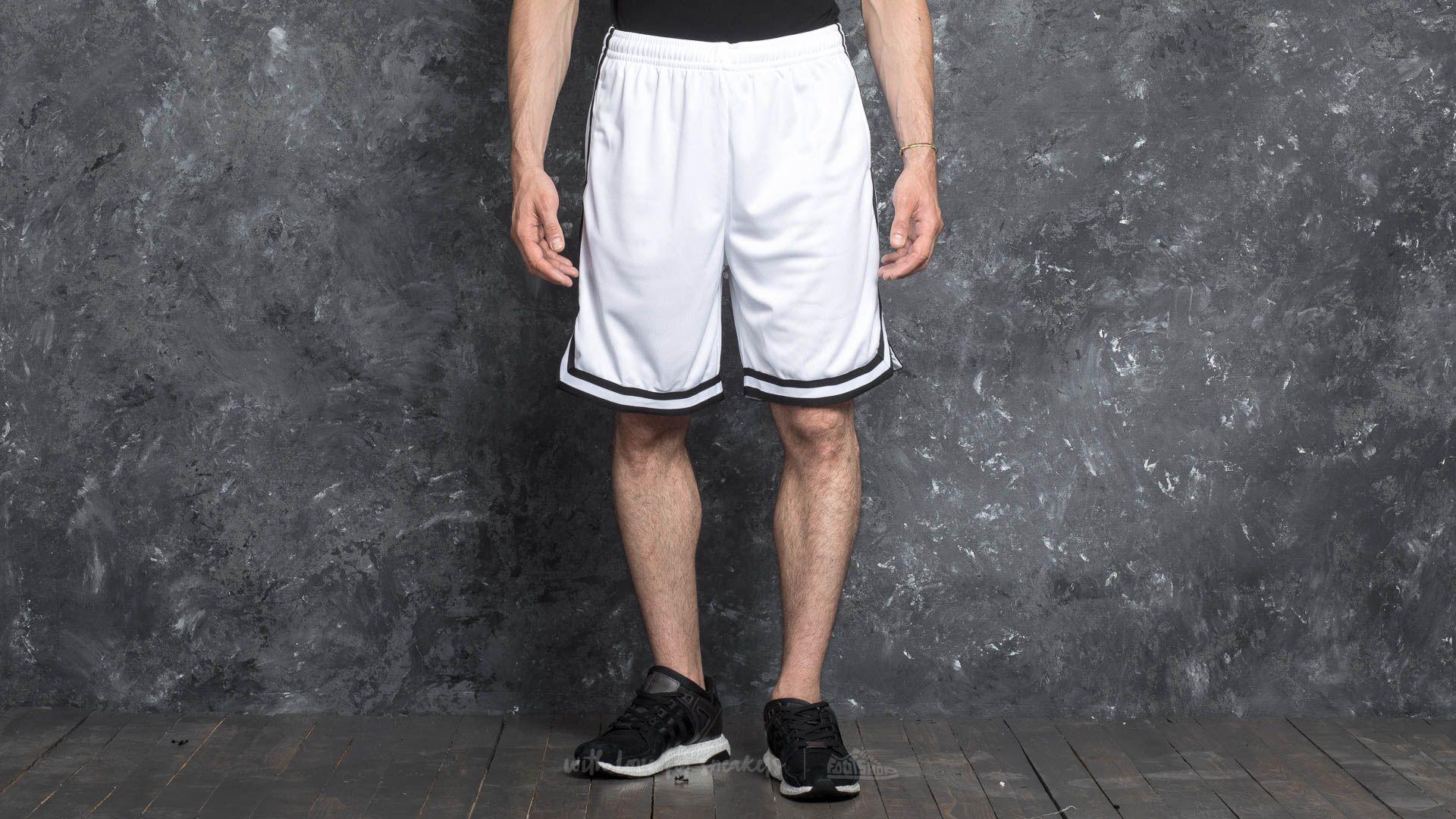 35282cd066 Urban Classics Stripes Mesh Shorts White/ Black/ White   Footshop