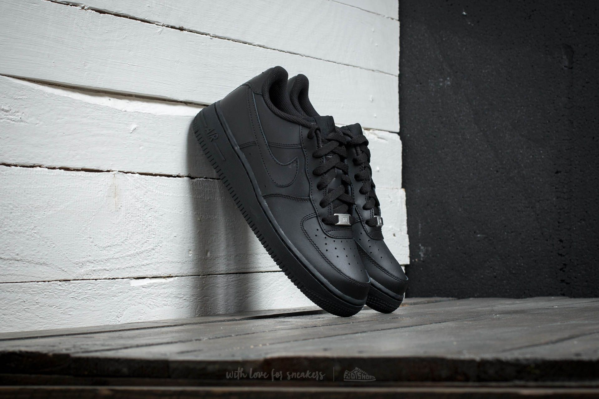 Chaussures et baskets femme Nike Air Force 1 (GS) Black/ Black-Black