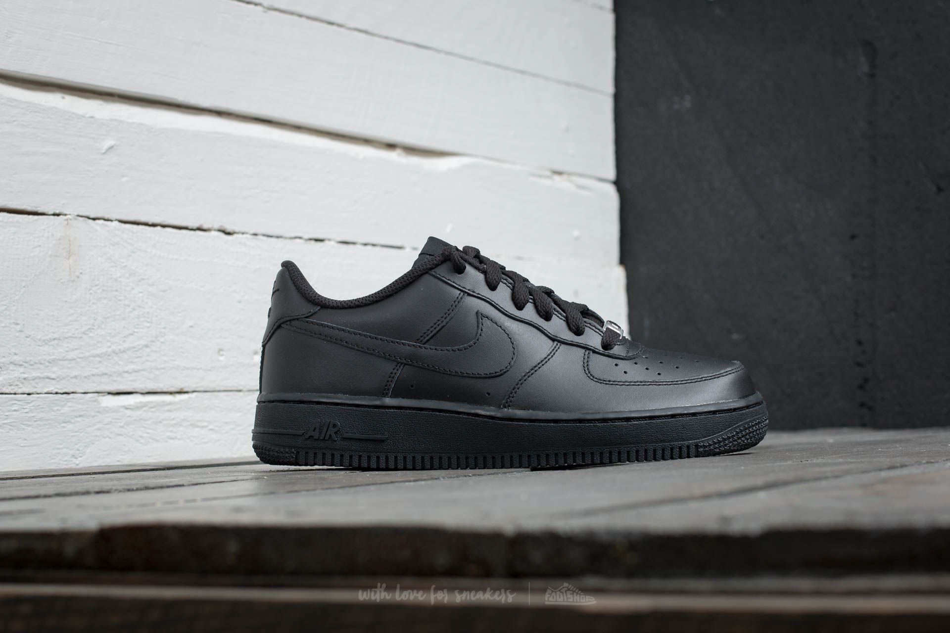 Nike Air Force 1 (GS) Black  Black-Black at a great price 599392f2e