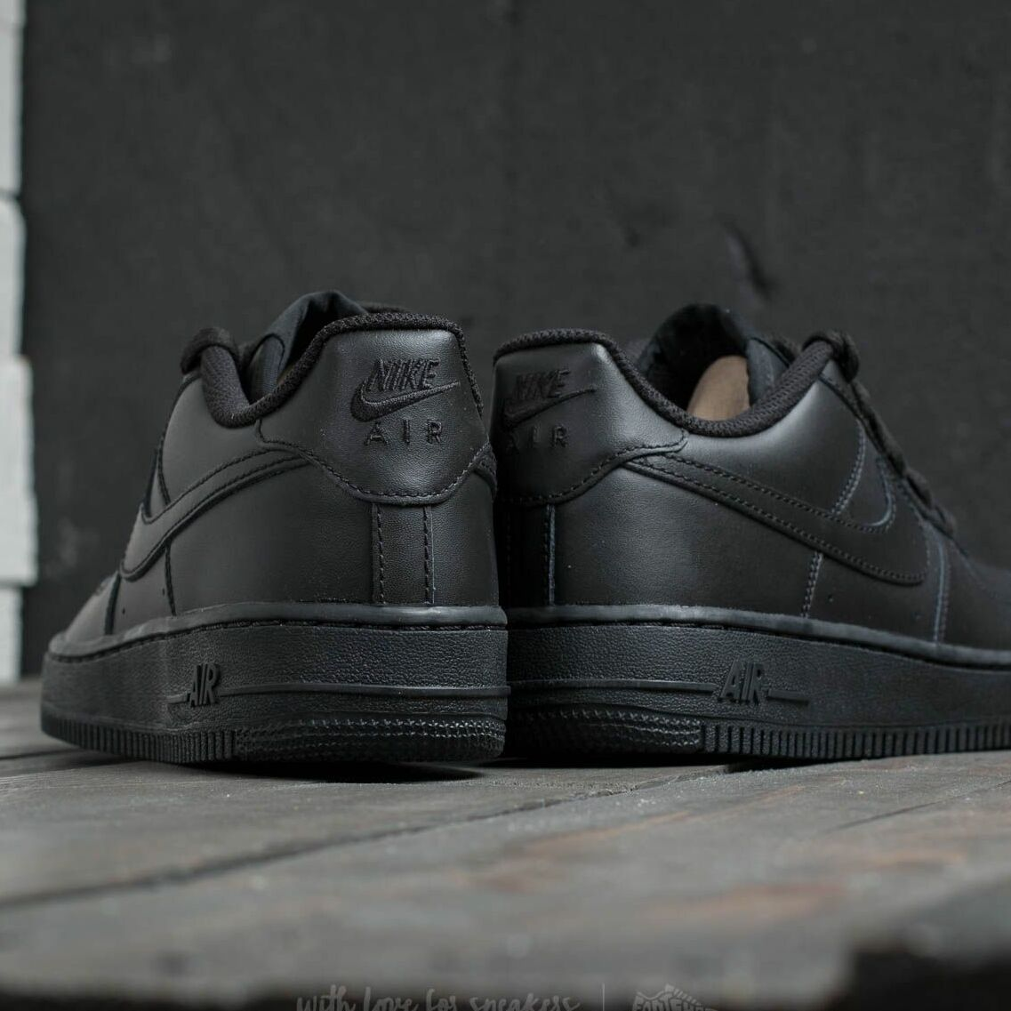 Nike Air Force 1 (GS) Black/ Black-Black